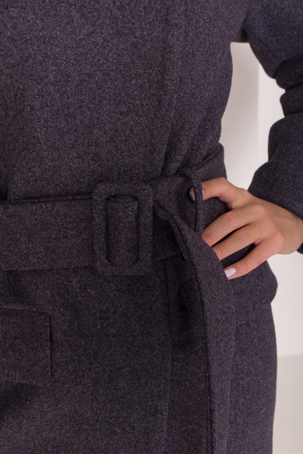 Зимнее пальто с отложным воротником Моле 8085 АРТ. 44036 Цвет: Т.синий 543 - фото 9, интернет магазин tm-modus.ru