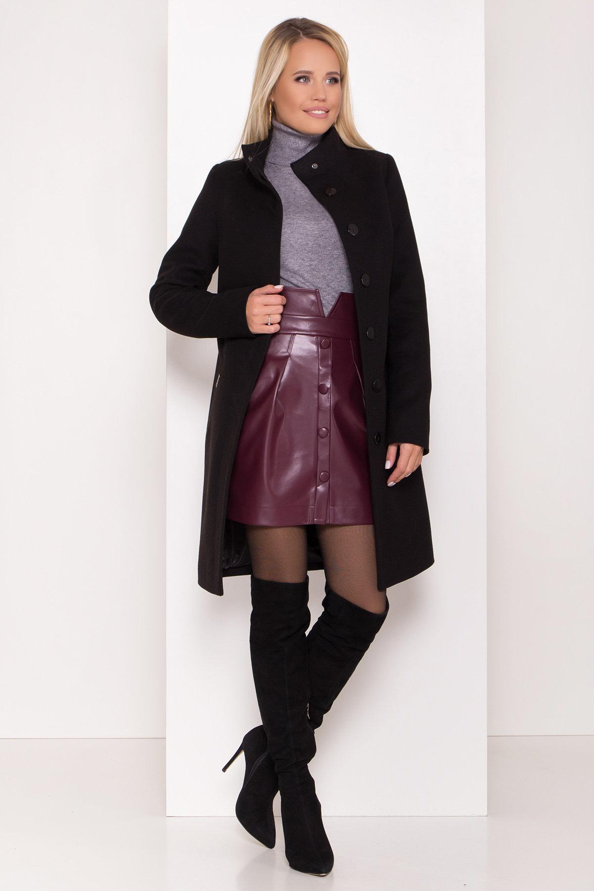 Пальто зима с хомутом Люцея 8211 АРТ. 44225 Цвет: Черный Н-1 - фото 3, интернет магазин tm-modus.ru