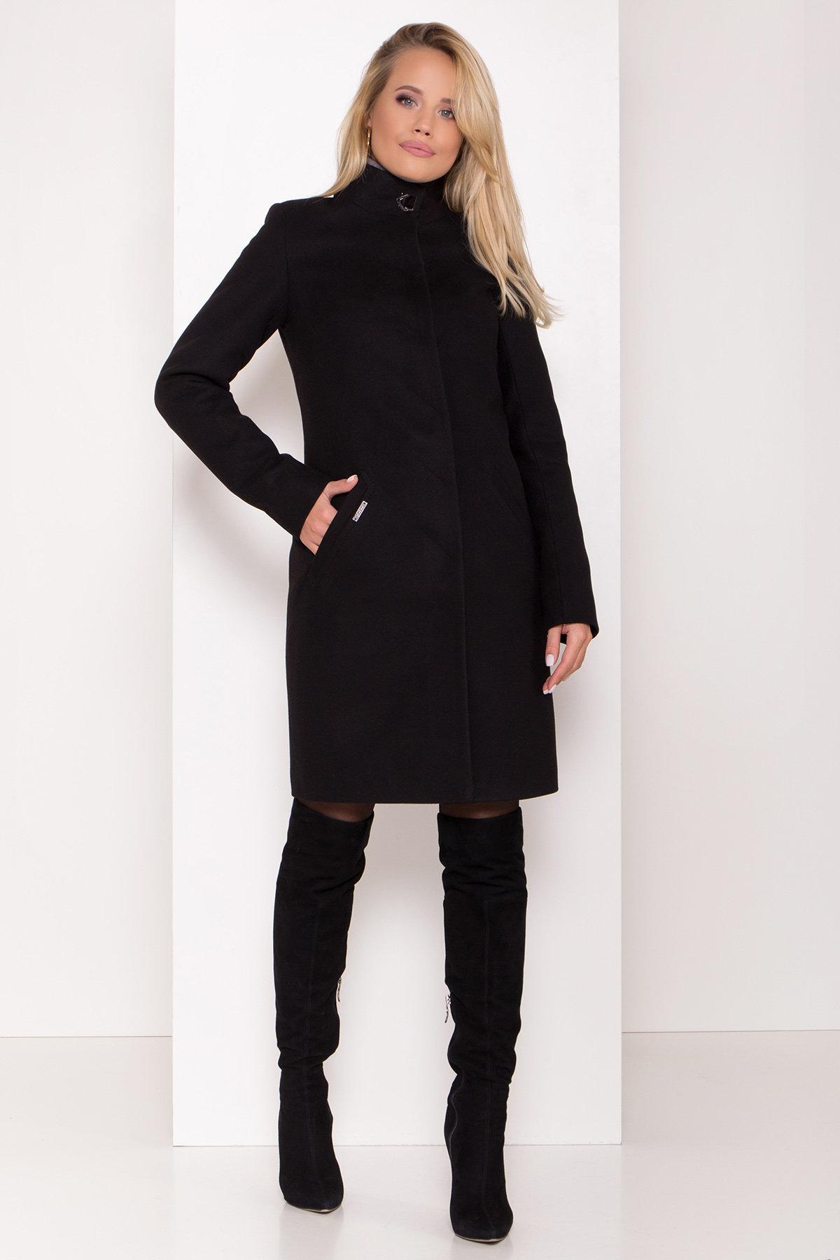 Пальто зима с хомутом Люцея 8211 АРТ. 44225 Цвет: Черный Н-1 - фото 6, интернет магазин tm-modus.ru