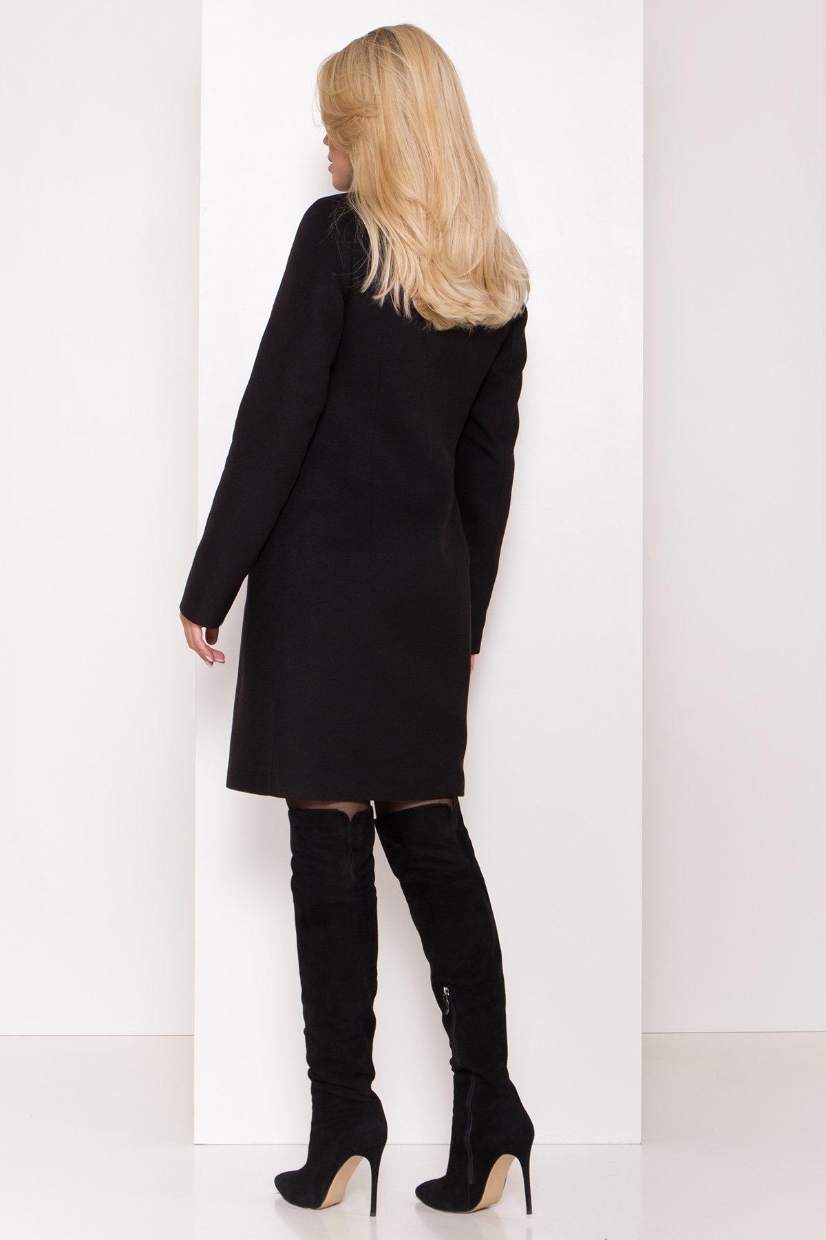 Пальто зима с хомутом Люцея 8211 АРТ. 44225 Цвет: Черный Н-1 - фото 9, интернет магазин tm-modus.ru