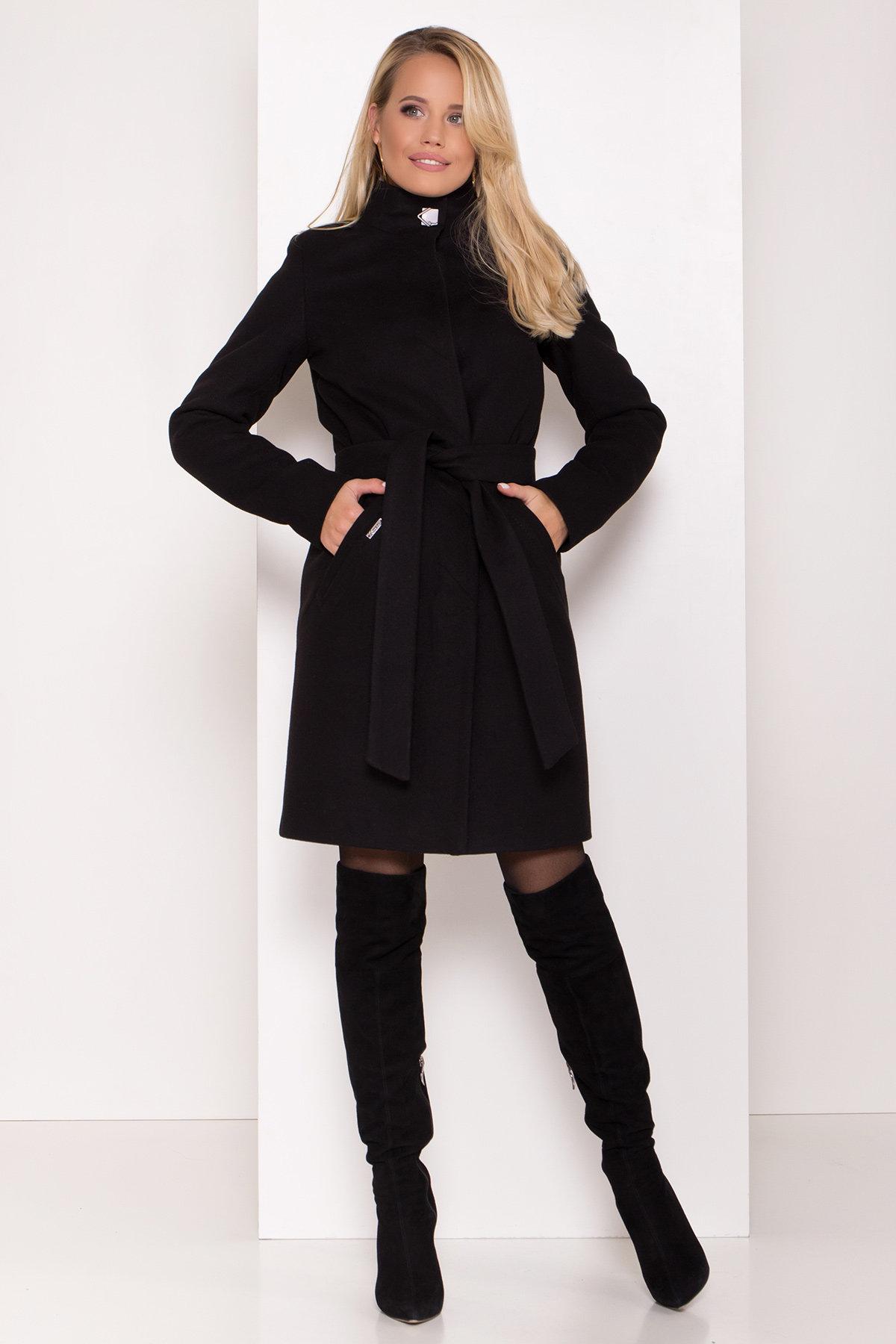 Пальто зима с хомутом Люцея 8211 АРТ. 44225 Цвет: Черный Н-1 - фото 12, интернет магазин tm-modus.ru