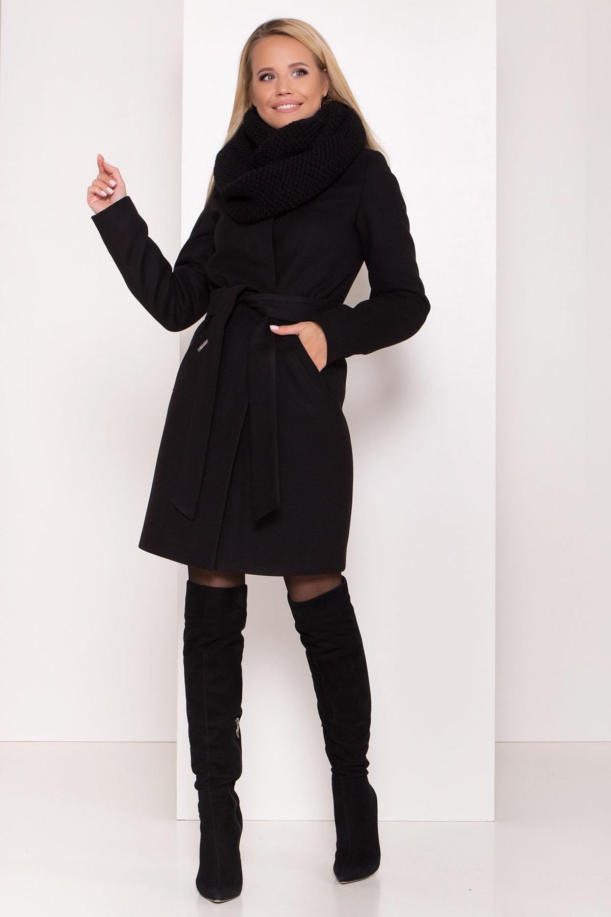 Пальто зима с хомутом Люцея 8211 АРТ. 44225 Цвет: Черный Н-1 - фото 15, интернет магазин tm-modus.ru