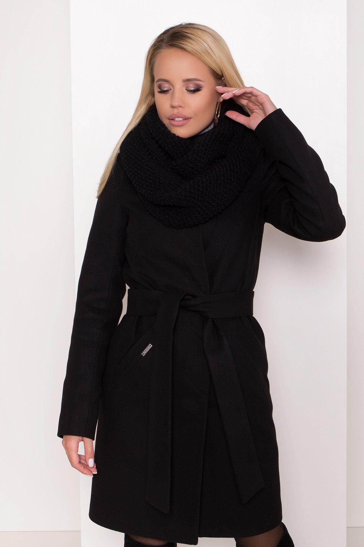 Пальто зима с хомутом Люцея 8211 АРТ. 44225 Цвет: Черный Н-1 - фото 16, интернет магазин tm-modus.ru