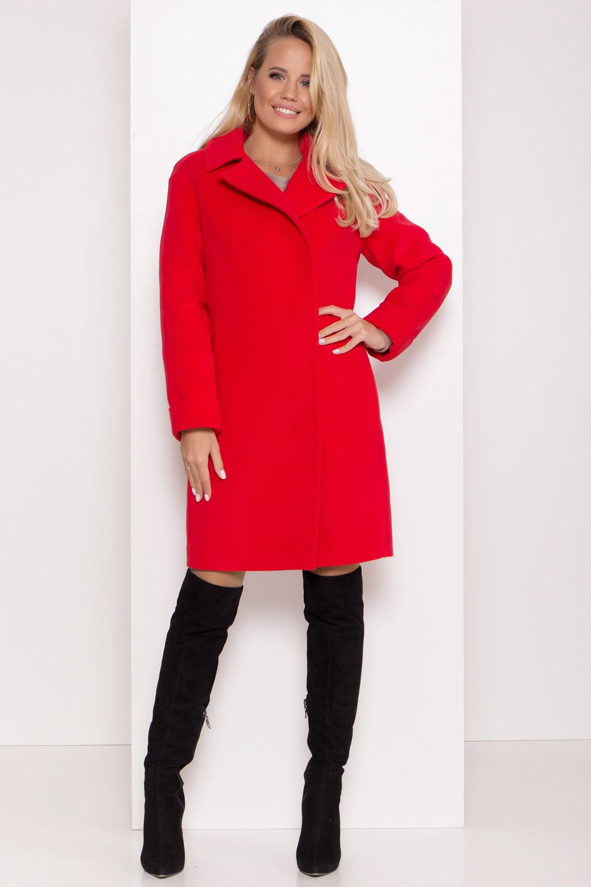 Зимнее пальто в классическом стиле Лизи 8179 АРТ. 44195 Цвет: Красный - фото 3, интернет магазин tm-modus.ru