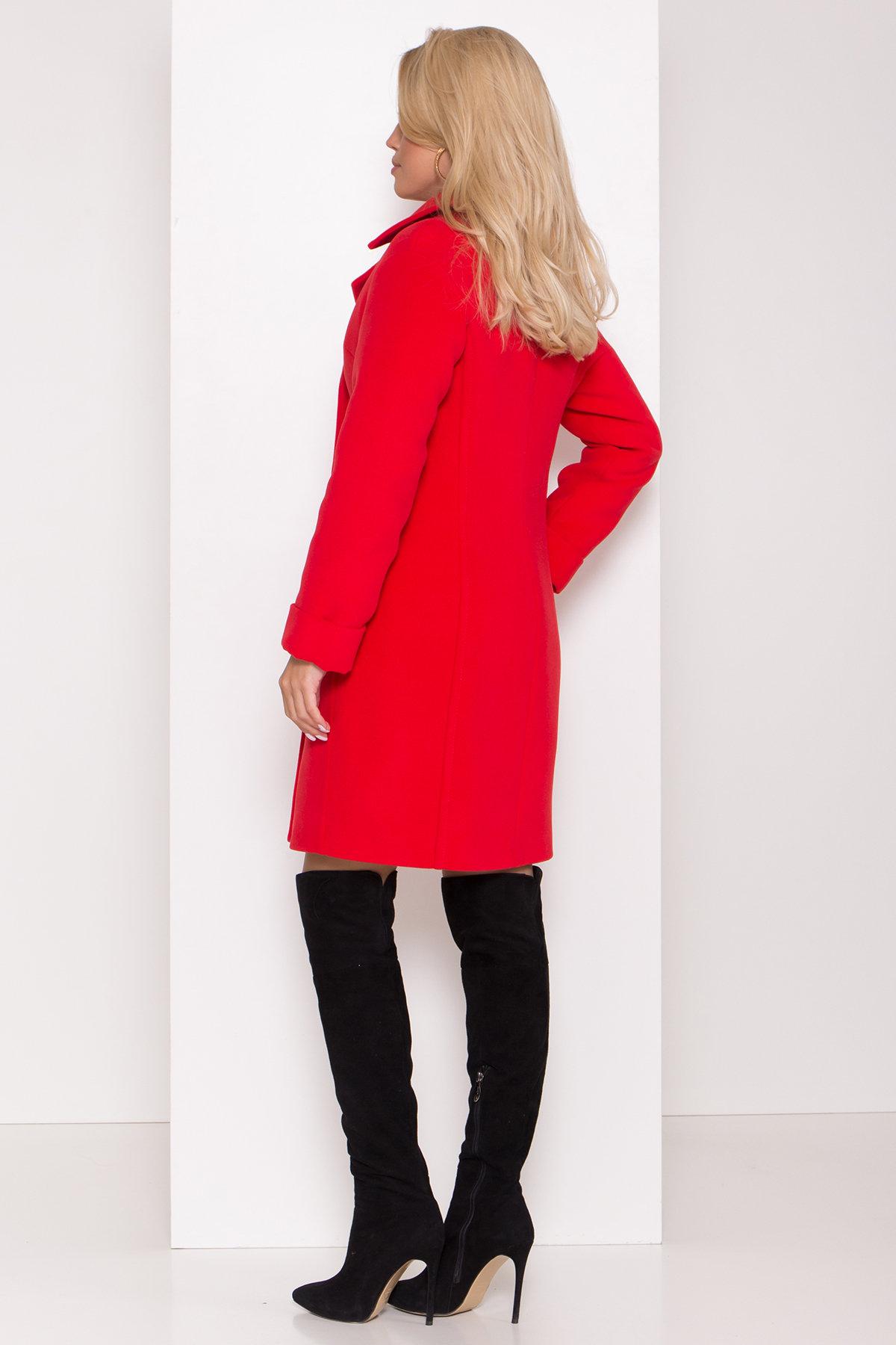 Зимнее пальто в классическом стиле Лизи 8179 АРТ. 44195 Цвет: Красный - фото 4, интернет магазин tm-modus.ru