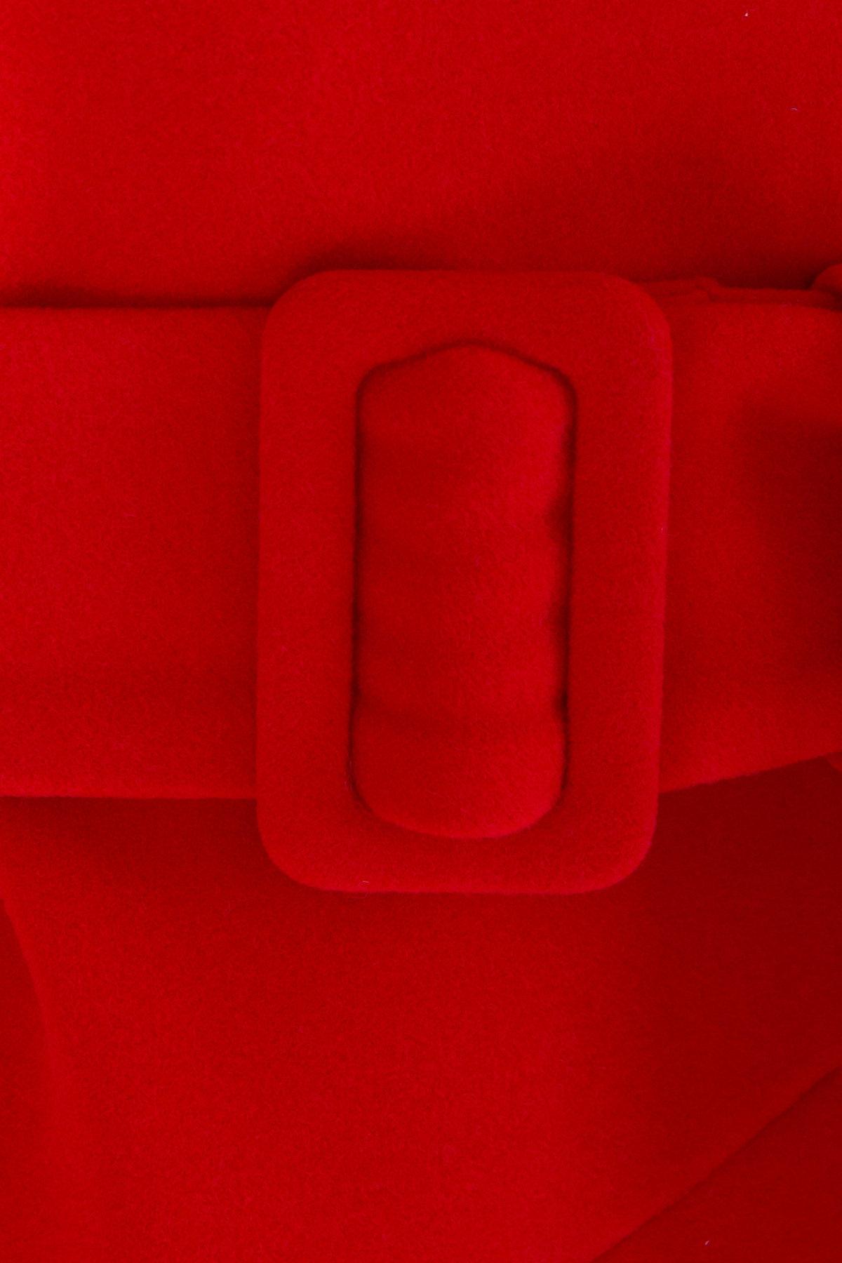 Зимнее пальто в классическом стиле Лизи 8179 АРТ. 44195 Цвет: Красный - фото 6, интернет магазин tm-modus.ru