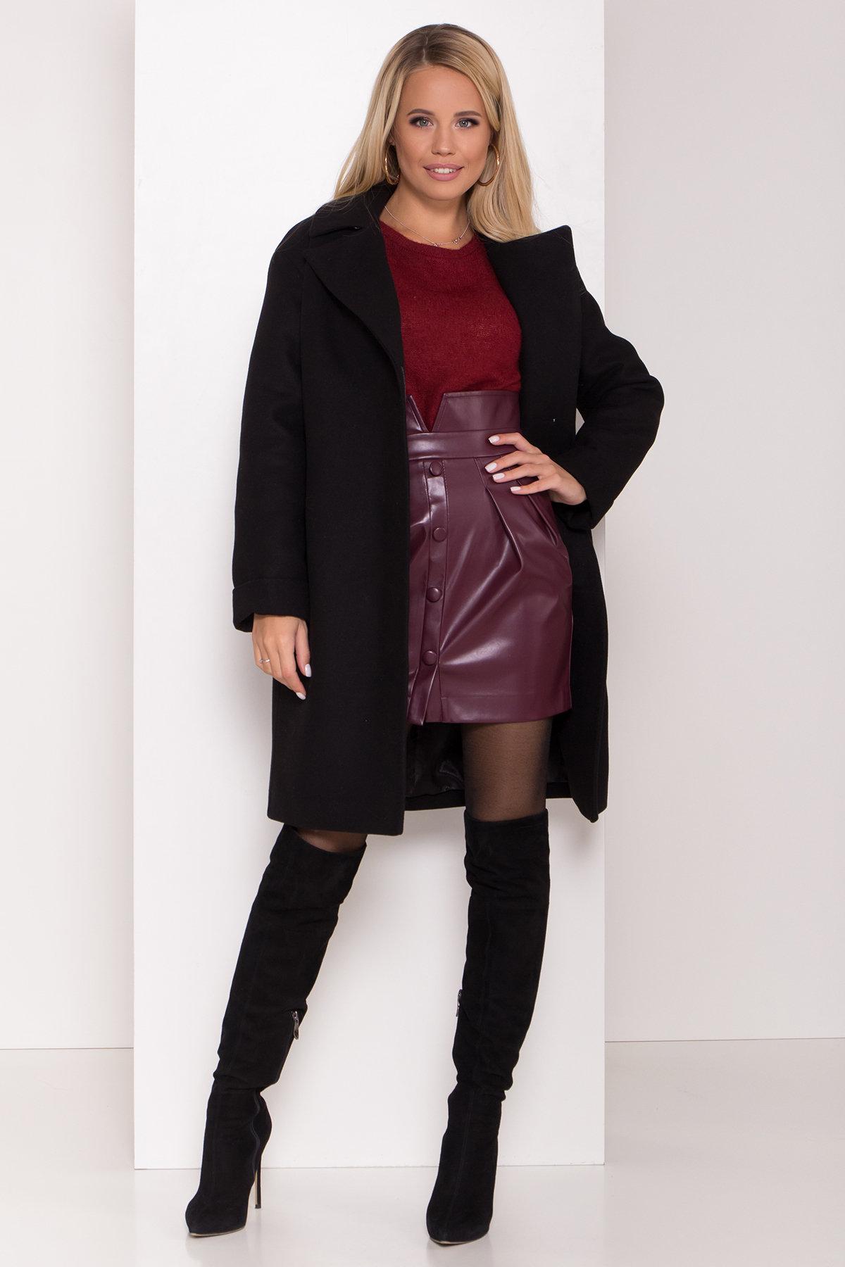 Зимнее пальто в классическом стиле Лизи 8179 АРТ. 44194 Цвет: Черный НL -1 - фото 2, интернет магазин tm-modus.ru