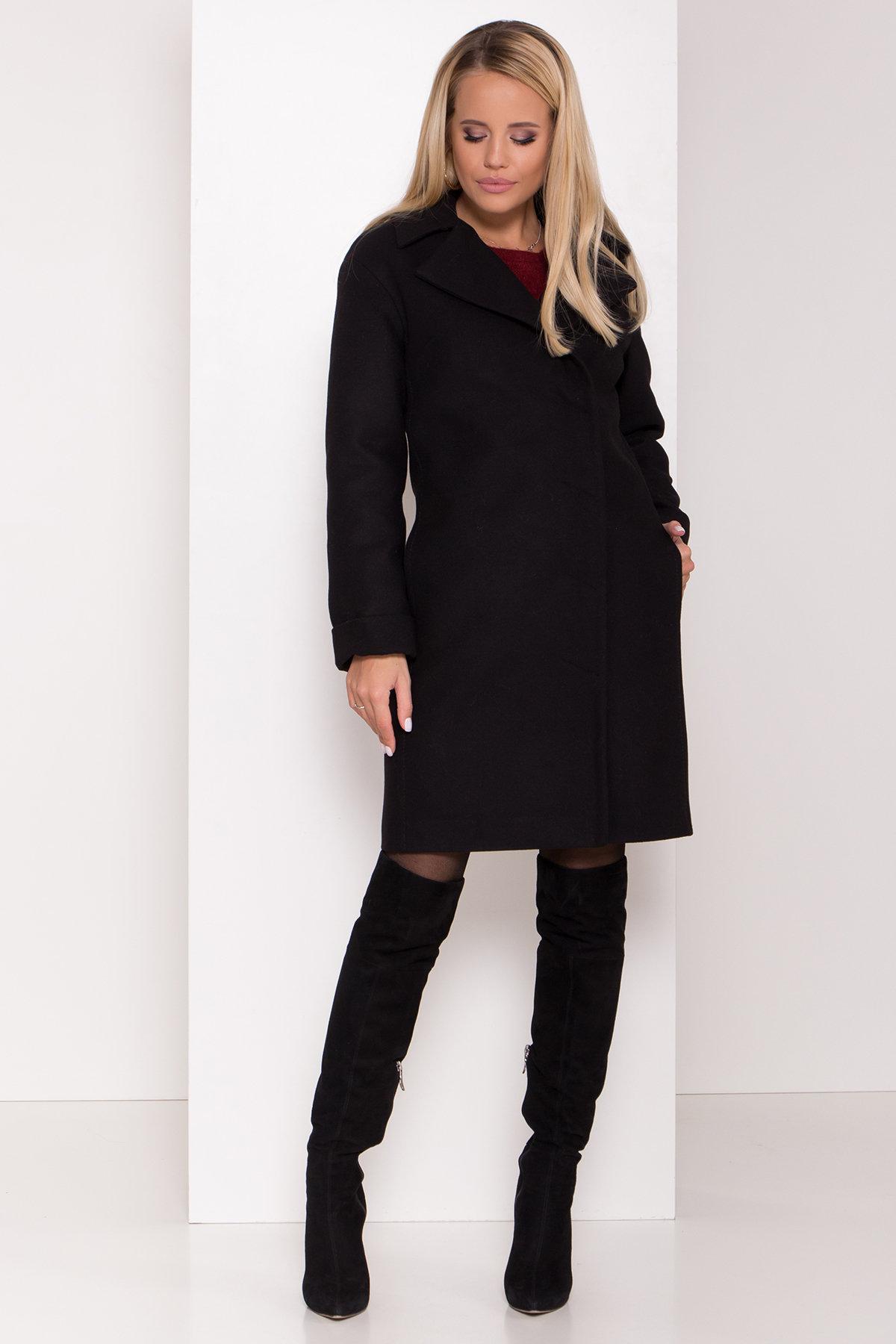 Зимнее пальто в классическом стиле Лизи 8179 АРТ. 44194 Цвет: Черный НL -1 - фото 3, интернет магазин tm-modus.ru