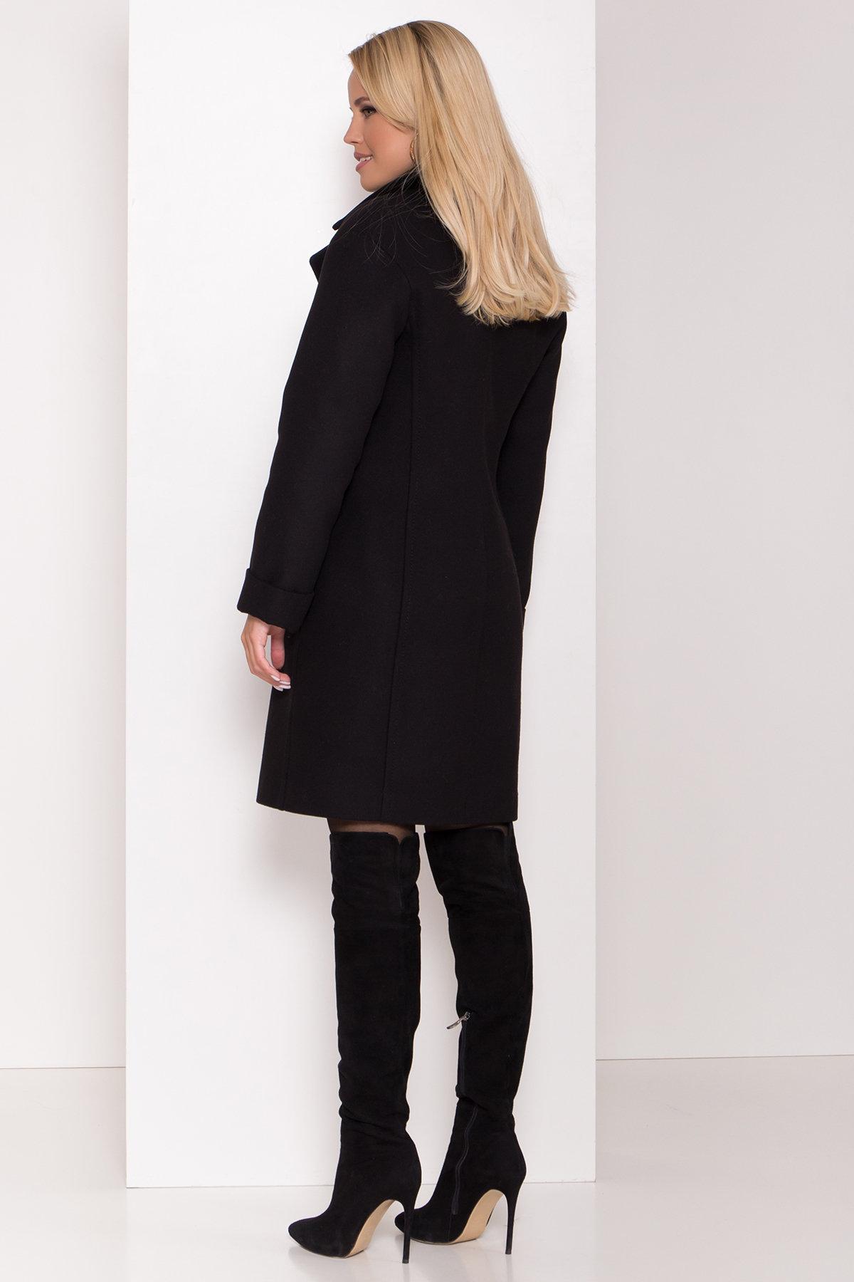 Зимнее пальто в классическом стиле Лизи 8179 АРТ. 44194 Цвет: Черный НL -1 - фото 4, интернет магазин tm-modus.ru