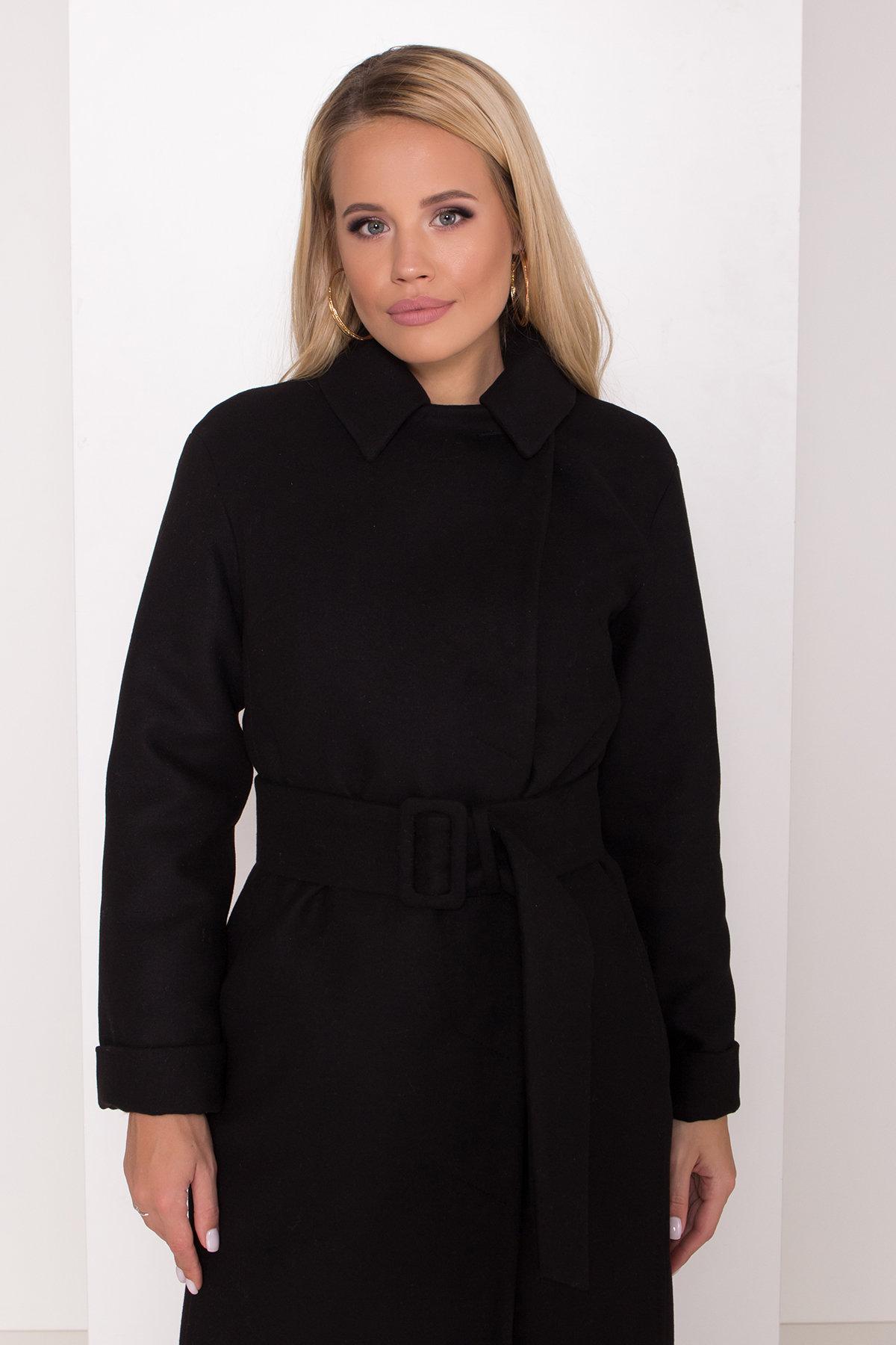 Зимнее пальто в классическом стиле Лизи 8179 АРТ. 44194 Цвет: Черный НL -1 - фото 5, интернет магазин tm-modus.ru