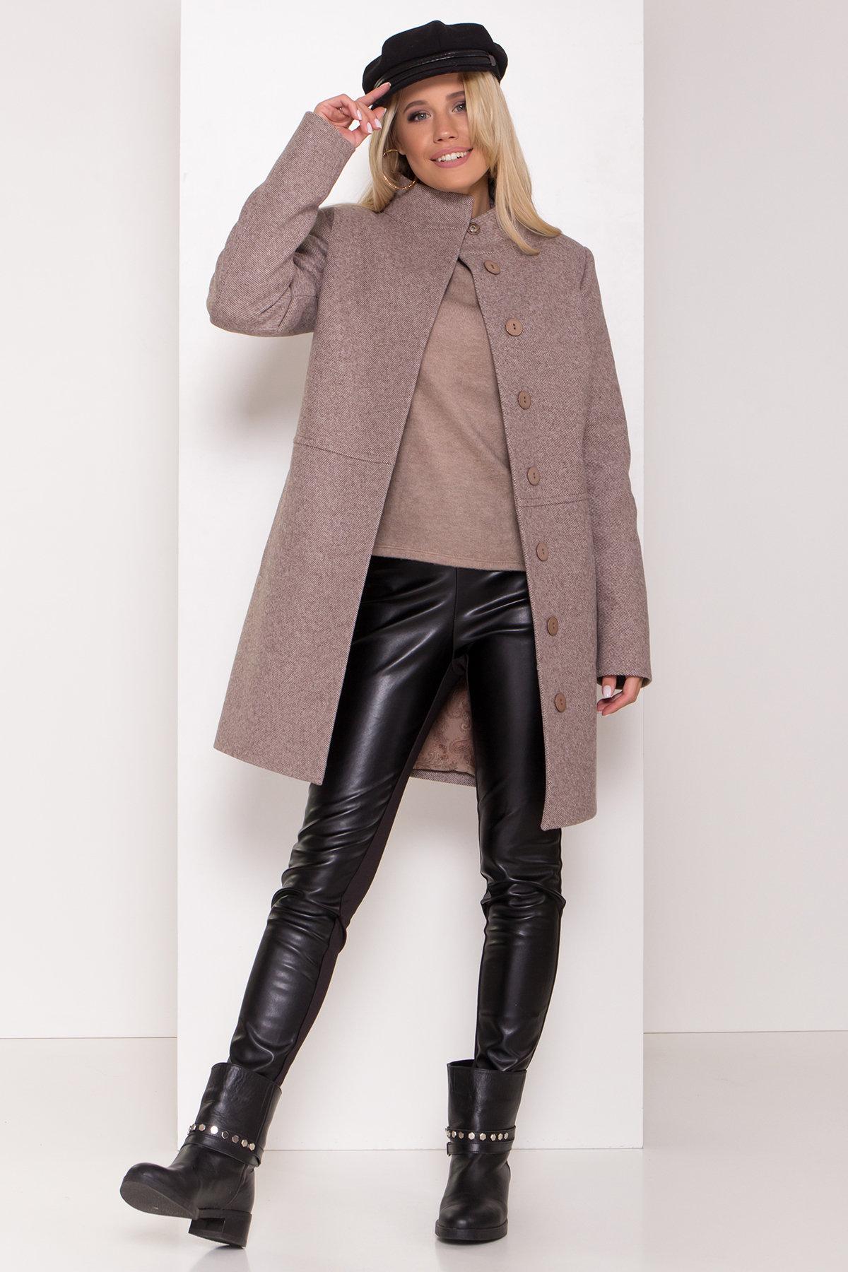 Зимнее пальто со снудом Габи 8205 АРТ. 44220 Цвет: Шоколадный меланж - фото 2, интернет магазин tm-modus.ru