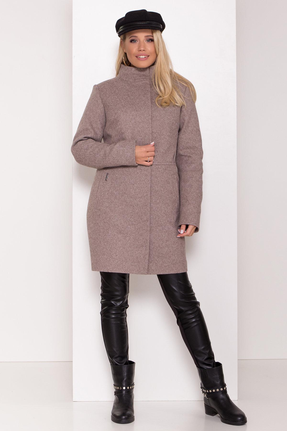 Зимнее пальто со снудом Габи 8205 АРТ. 44220 Цвет: Шоколадный меланж - фото 3, интернет магазин tm-modus.ru