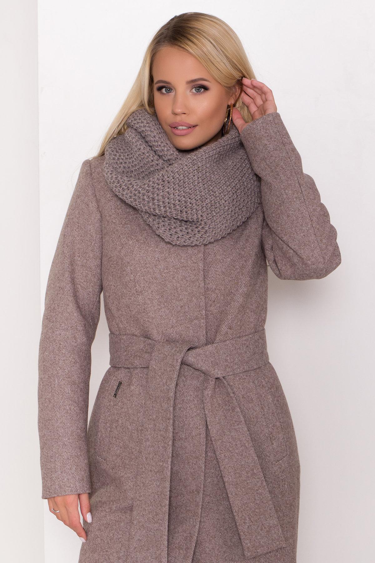 Зимнее пальто со снудом Габи 8205 АРТ. 44220 Цвет: Шоколадный меланж - фото 5, интернет магазин tm-modus.ru