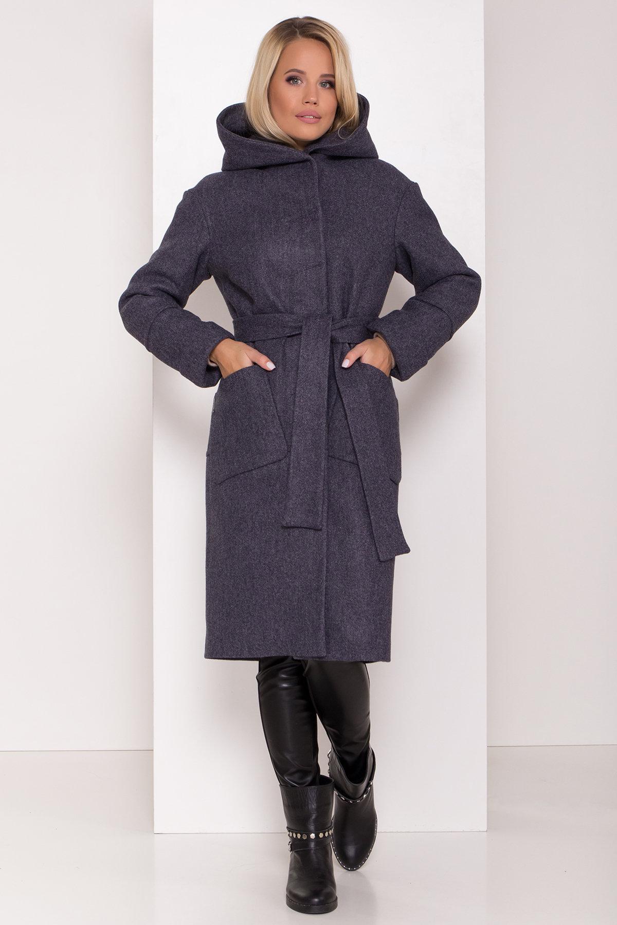 Зимнее пальто женское интернет магазин Украина Утепленное пальто с капюшоном на зиму Анита классик 8213