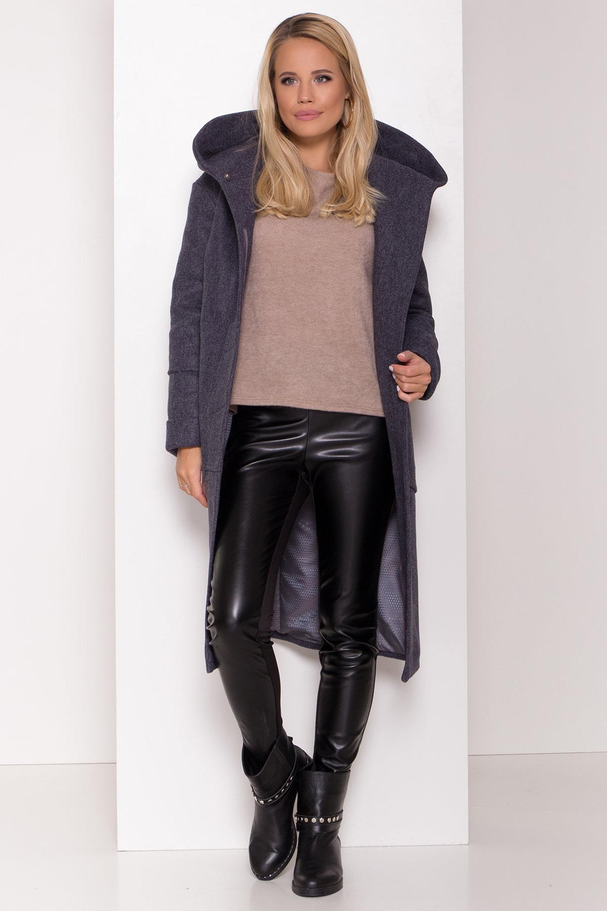 Утепленное пальто с капюшоном на зиму Анита классик 8213 АРТ. 44275 Цвет: т. синий 543 - фото 2, интернет магазин tm-modus.ru