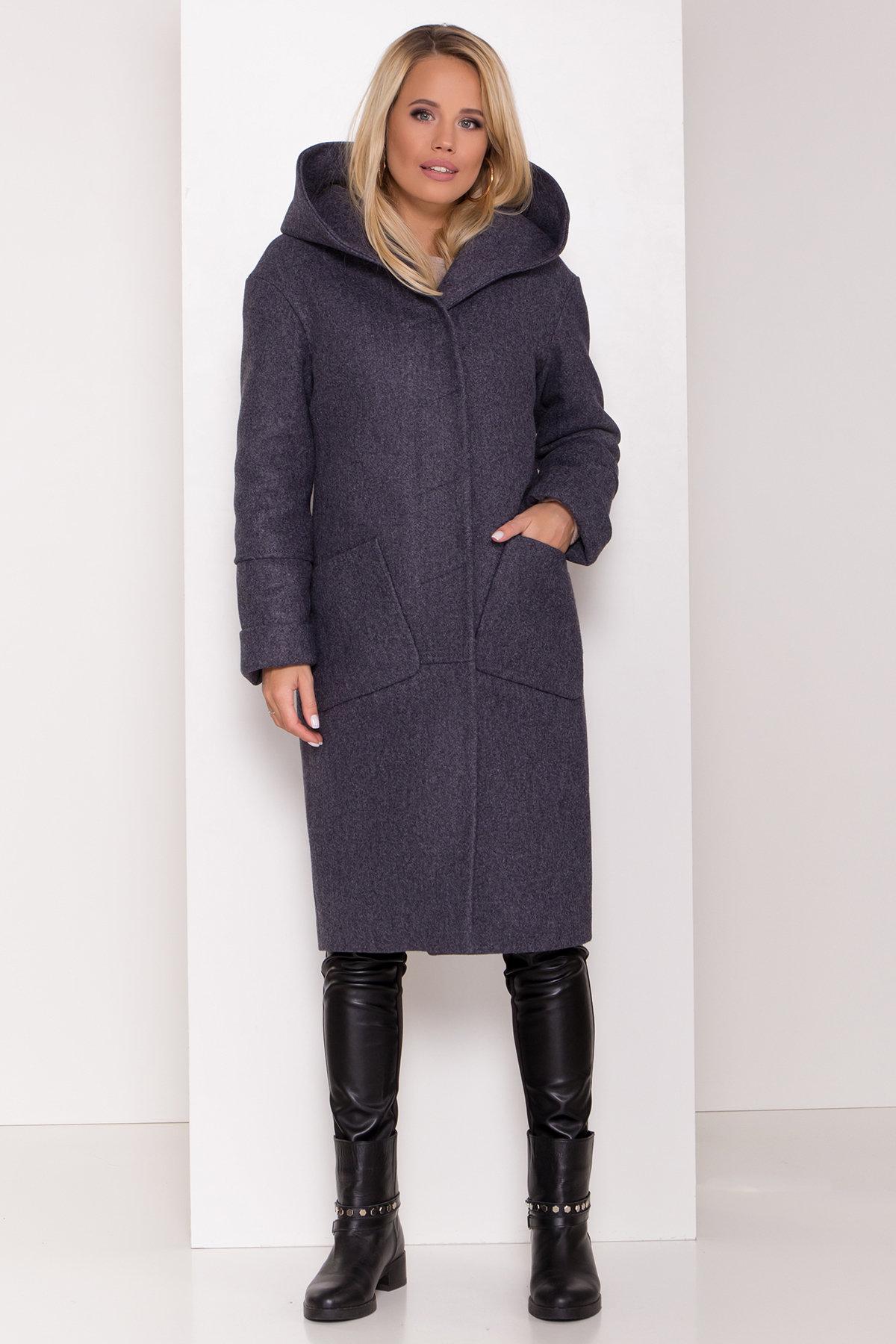 Утепленное пальто с капюшоном на зиму Анита классик 8213 АРТ. 44275 Цвет: т. синий 543 - фото 3, интернет магазин tm-modus.ru