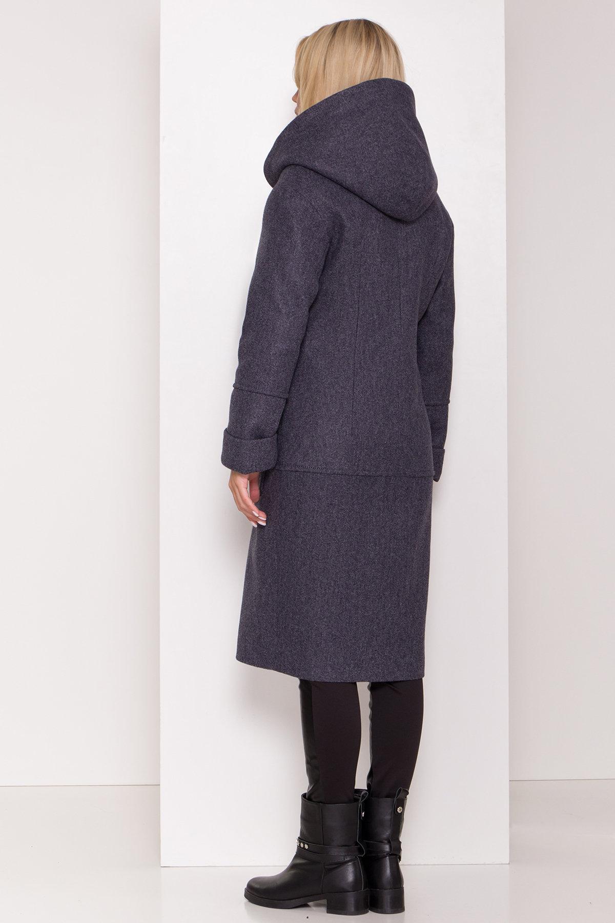 Утепленное пальто с капюшоном на зиму Анита классик 8213 АРТ. 44275 Цвет: т. синий 543 - фото 4, интернет магазин tm-modus.ru