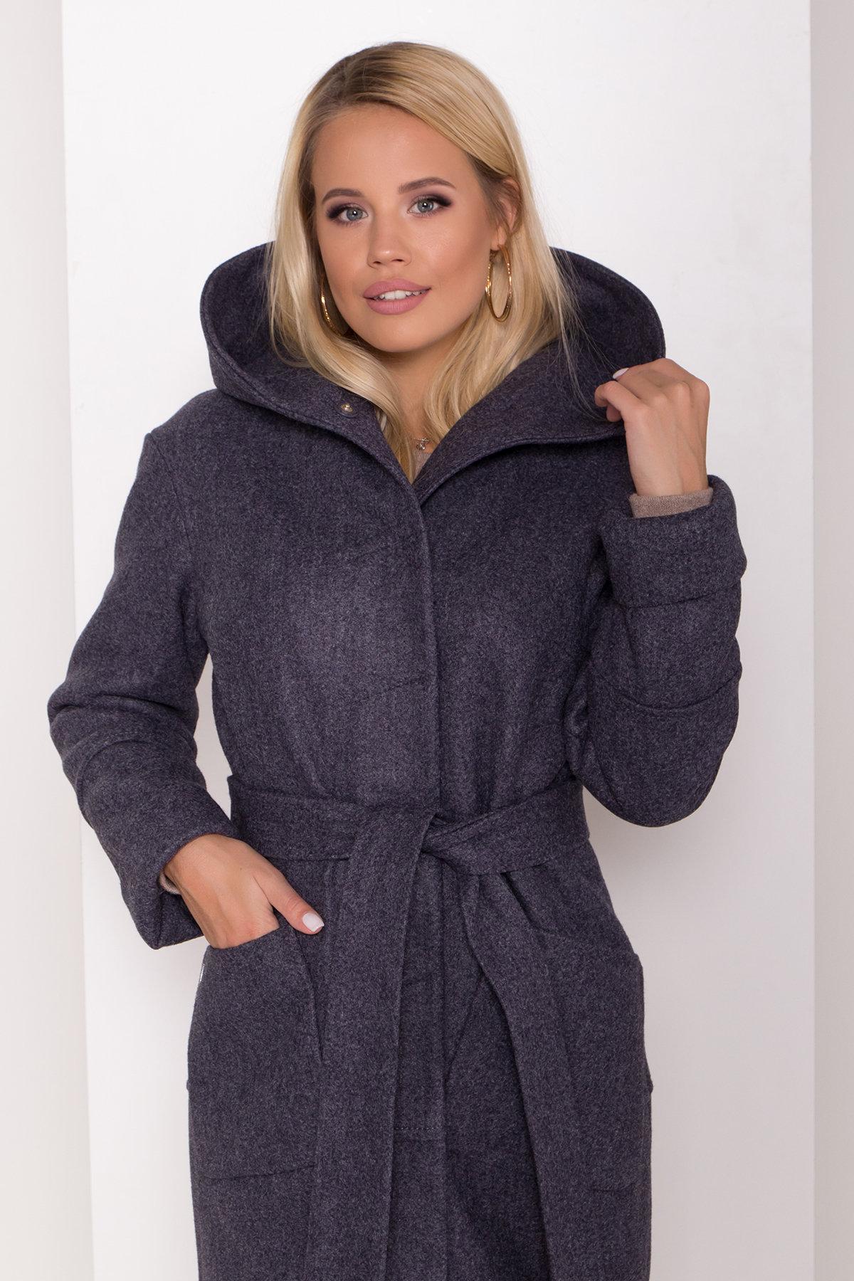 Утепленное пальто с капюшоном на зиму Анита классик 8213 АРТ. 44275 Цвет: т. синий 543 - фото 5, интернет магазин tm-modus.ru