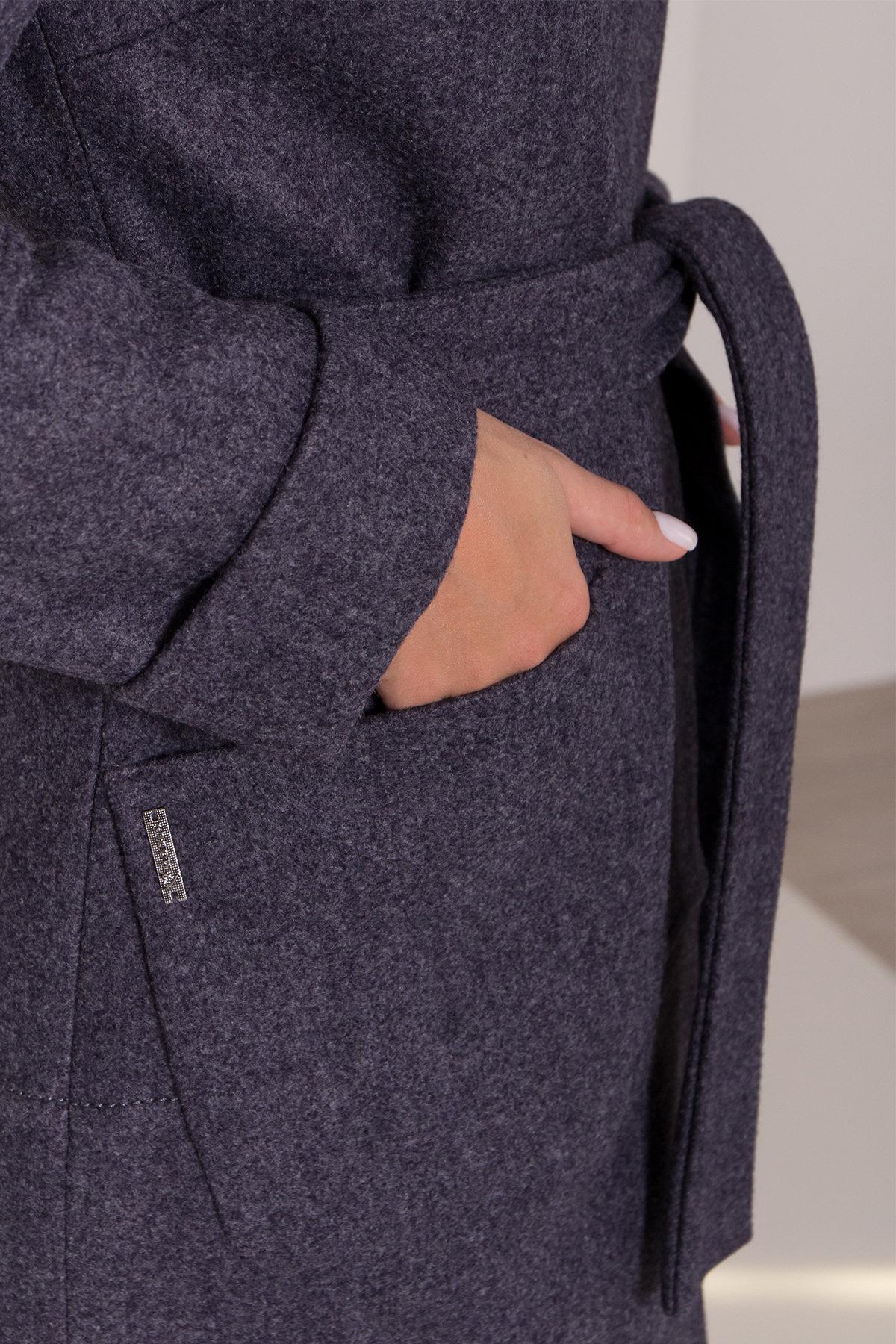 Утепленное пальто с капюшоном на зиму Анита классик 8213 АРТ. 44275 Цвет: т. синий 543 - фото 6, интернет магазин tm-modus.ru