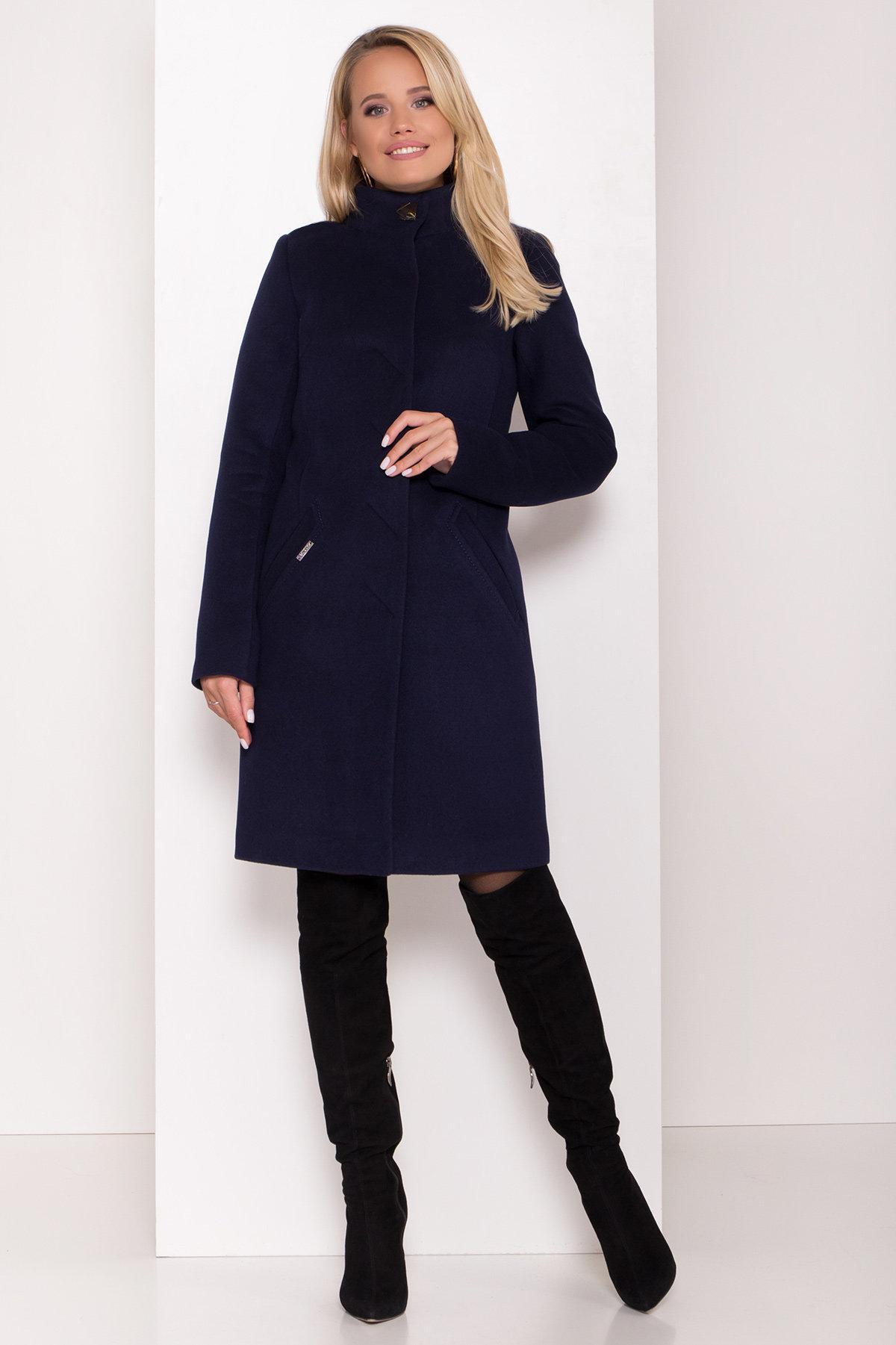 Пальто зима с хомутом Люцея 8211 АРТ. 44224 Цвет: Т.синий Н-14 - фото 5, интернет магазин tm-modus.ru