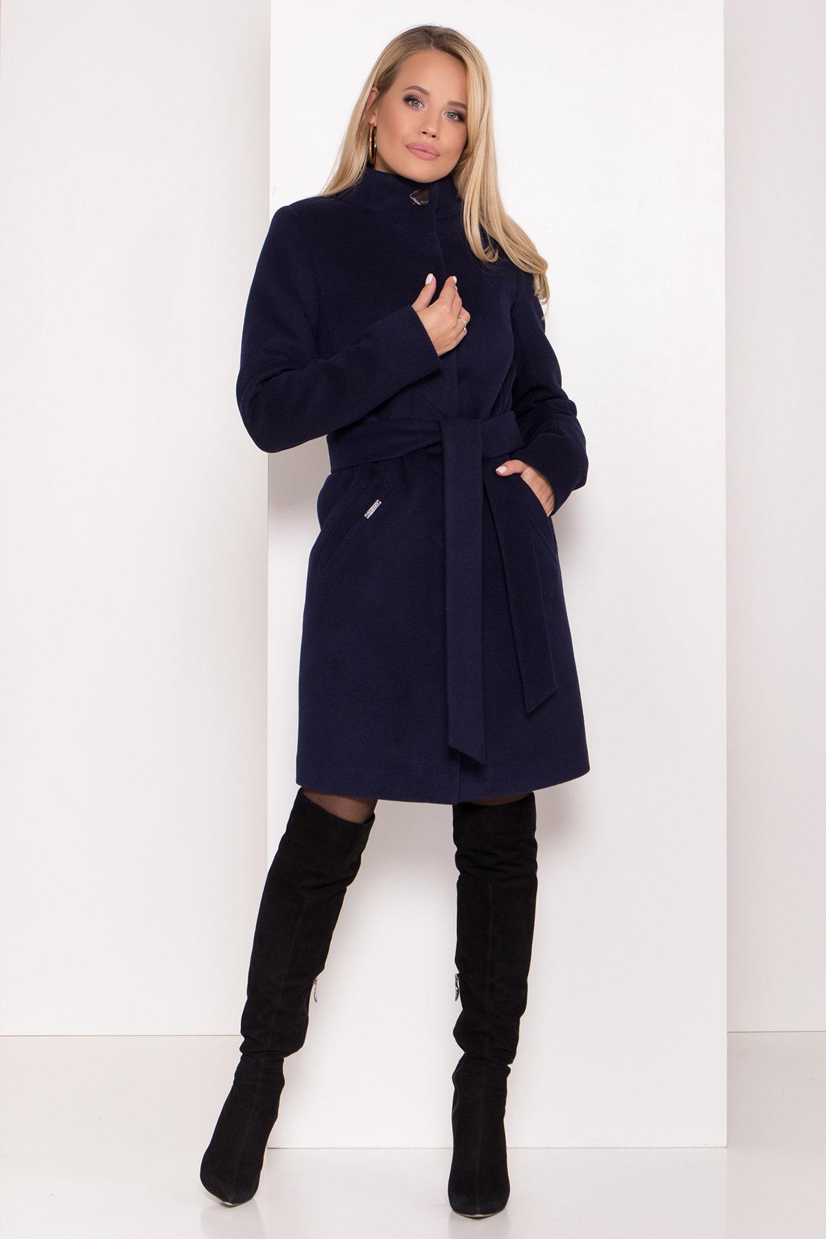 Пальто зима с хомутом Люцея 8211 АРТ. 44224 Цвет: Т.синий Н-14 - фото 13, интернет магазин tm-modus.ru
