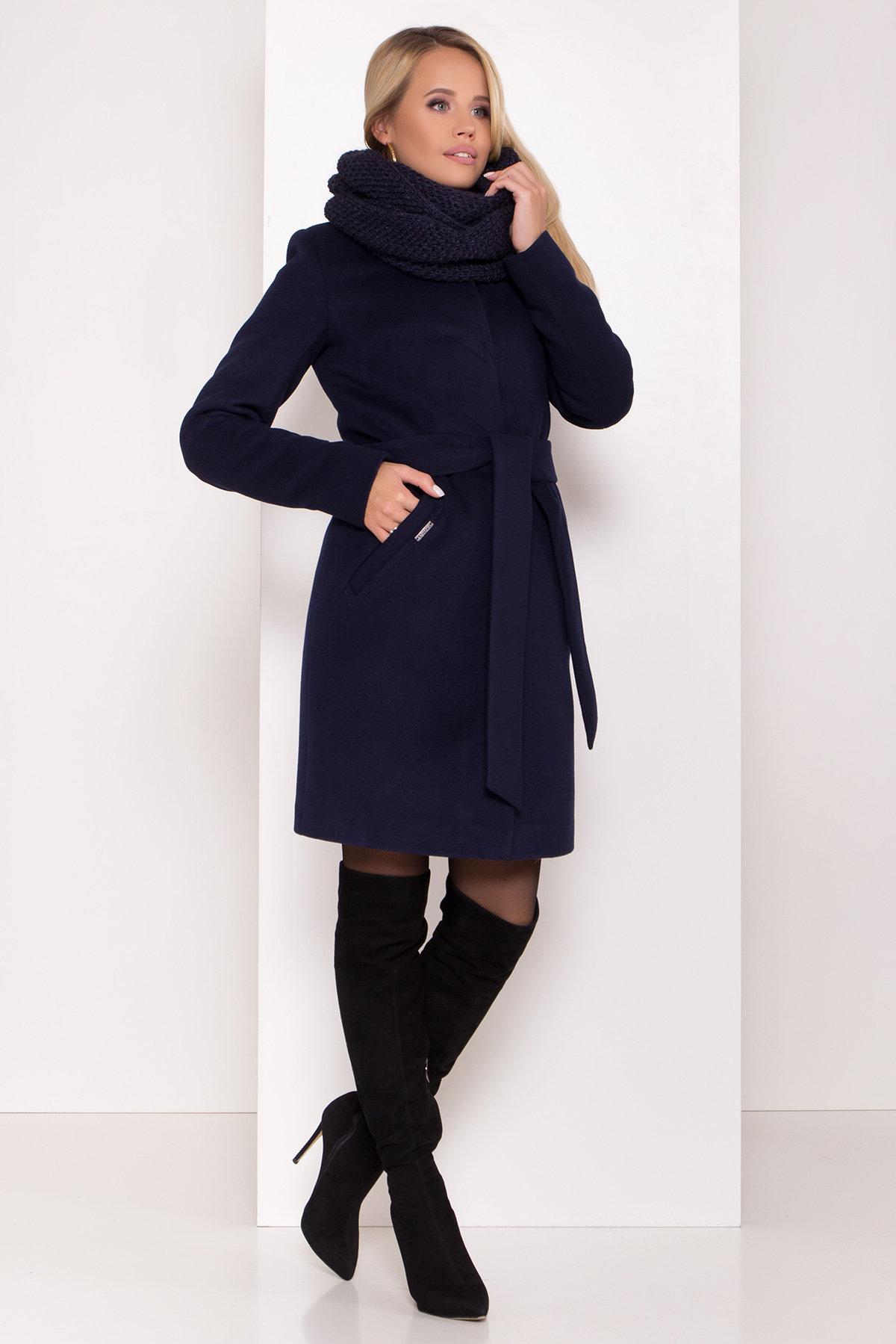 Пальто зима с хомутом Люцея 8211 АРТ. 44224 Цвет: Т.синий Н-14 - фото 17, интернет магазин tm-modus.ru