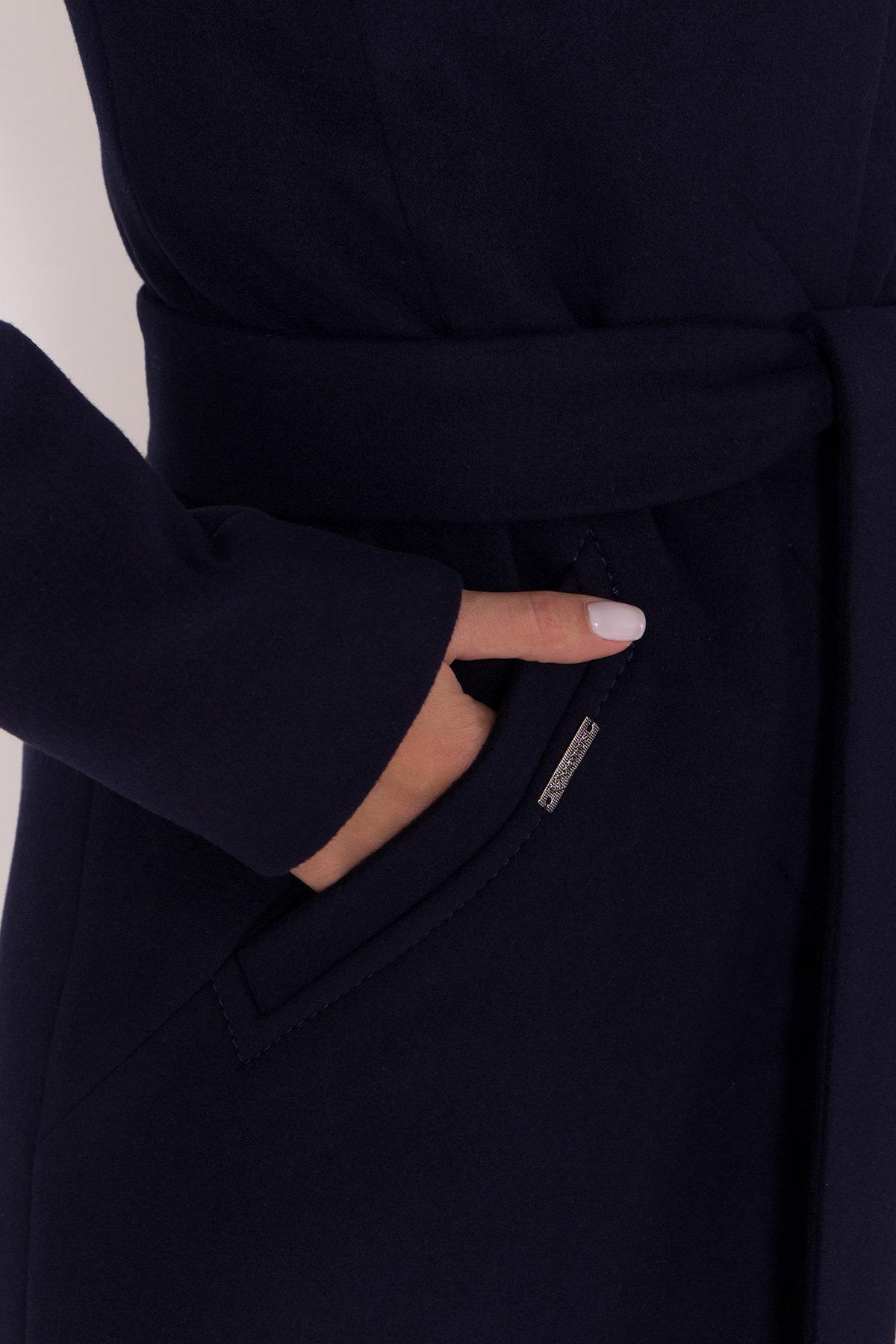 Пальто зима с хомутом Люцея 8211 АРТ. 44224 Цвет: Т.синий Н-14 - фото 21, интернет магазин tm-modus.ru