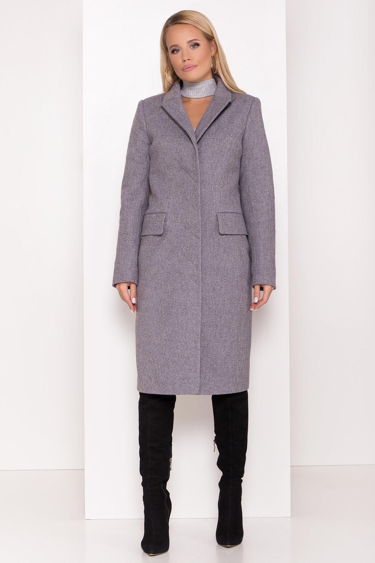 Полуприталенное зимнее пальто с отложным воротником Лабио 8182 АРТ. 44189 Цвет: Серый 2 - фото 3, интернет магазин tm-modus.ru