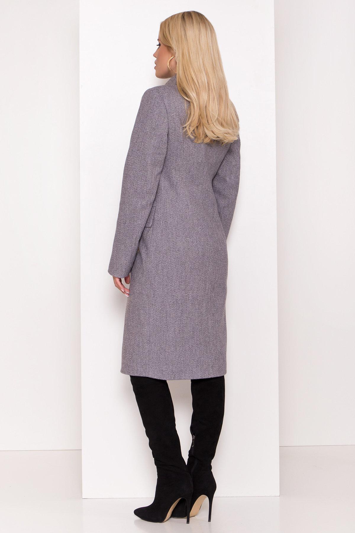 Полуприталенное зимнее пальто с отложным воротником Лабио 8182 АРТ. 44189 Цвет: Серый 2 - фото 5, интернет магазин tm-modus.ru