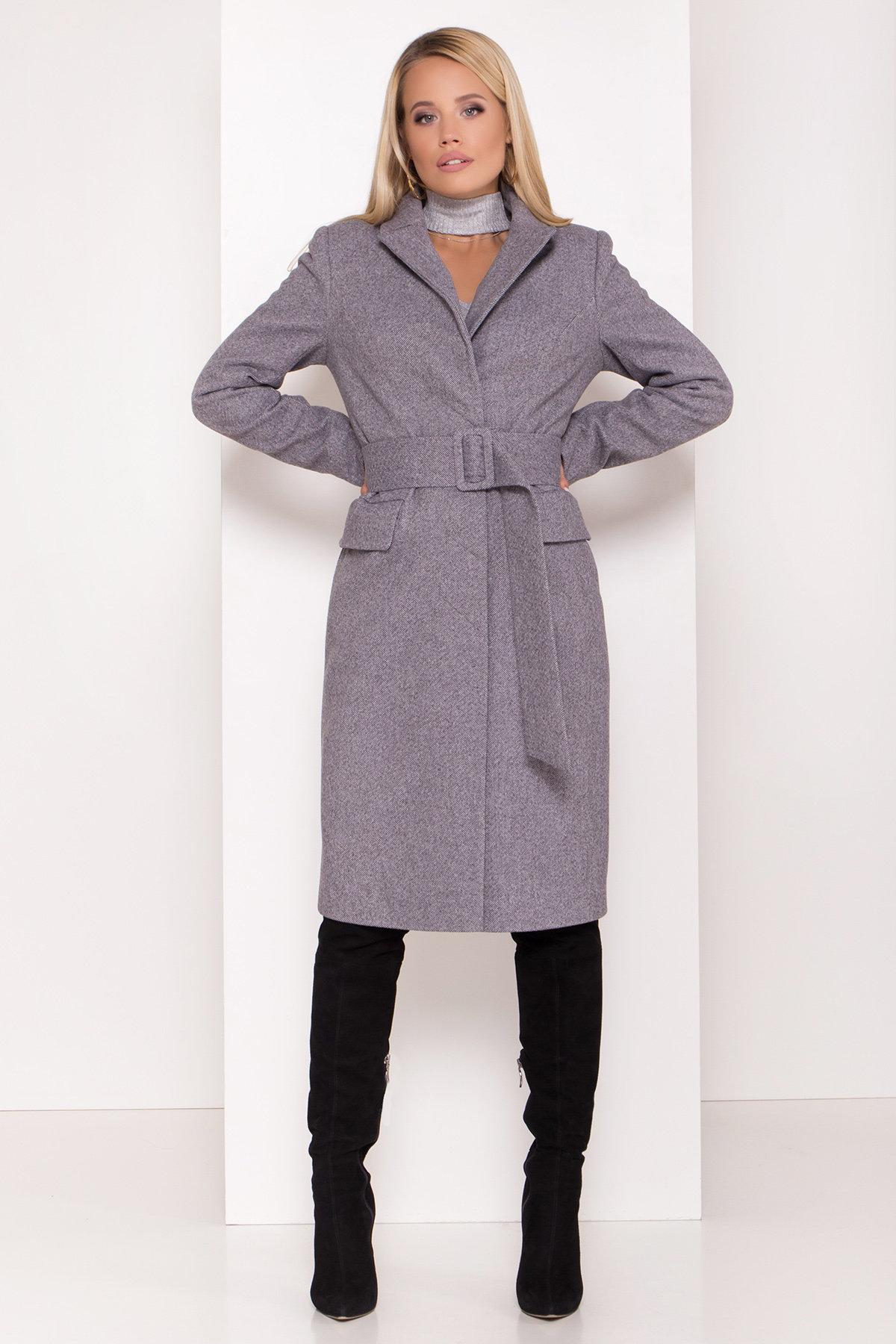 Пальто женское зимнее купить от Modus Полуприталенное зимнее пальто с отложным воротником Лабио 8182