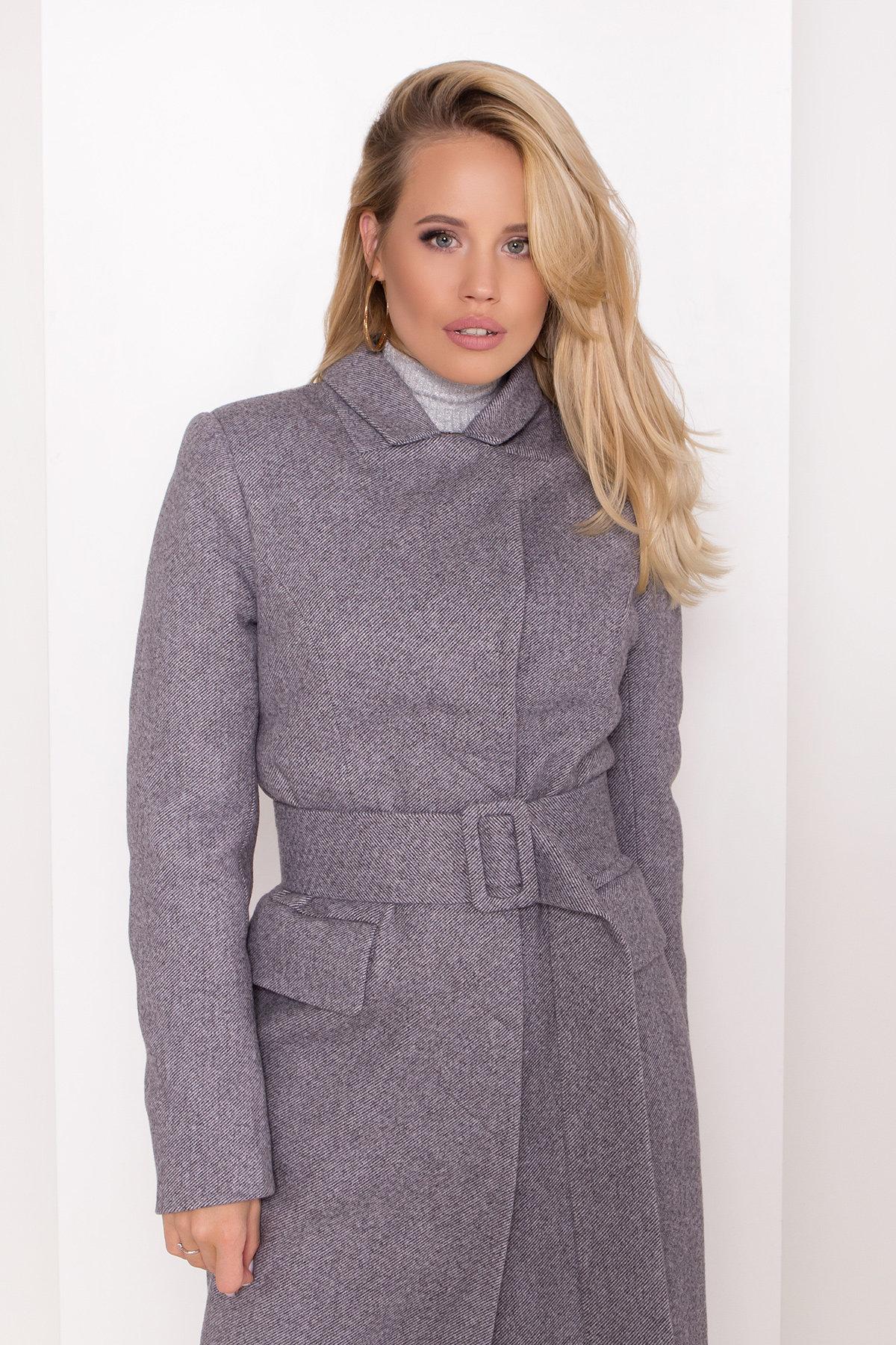 Полуприталенное зимнее пальто с отложным воротником Лабио 8182 АРТ. 44189 Цвет: Серый 2 - фото 9, интернет магазин tm-modus.ru