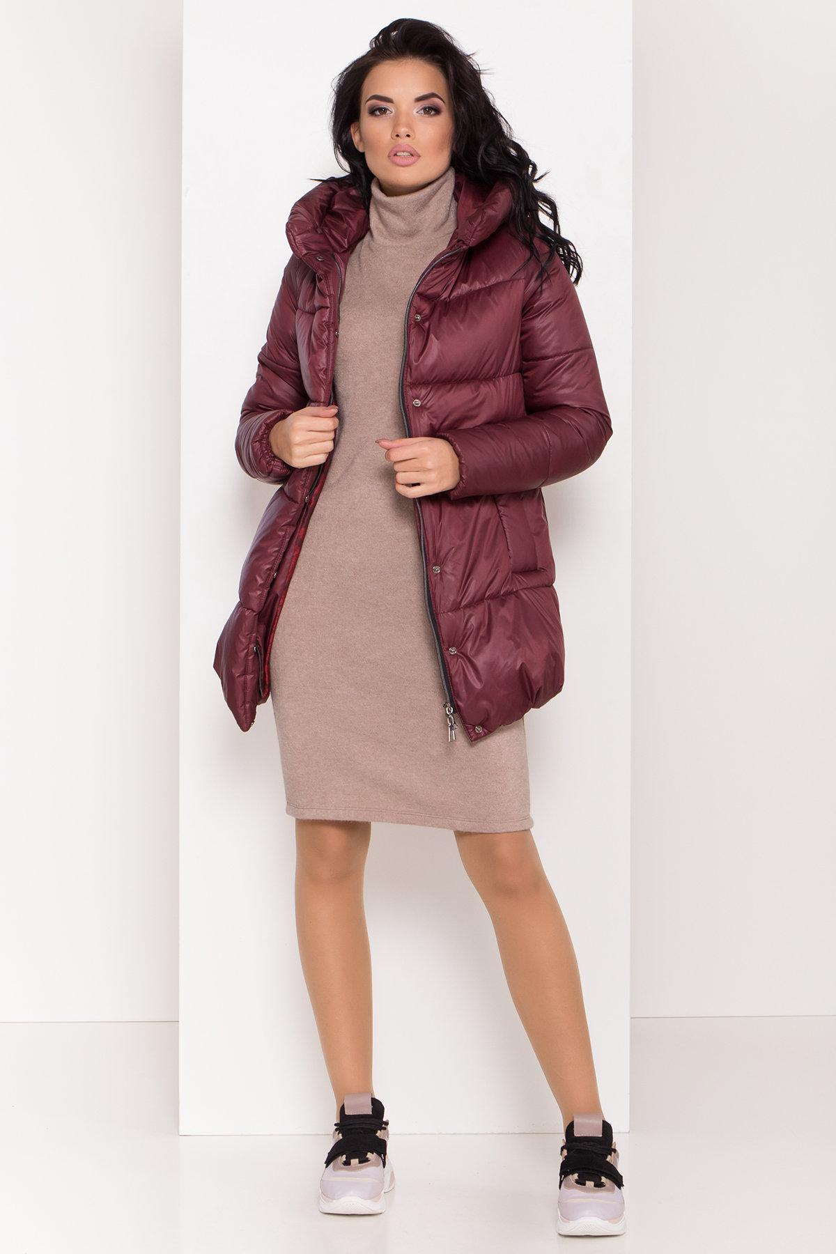 Женская зимняя куртка пуховик Техас Лаке 8238 АРТ. 44286 Цвет: Бордо - фото 3, интернет магазин tm-modus.ru