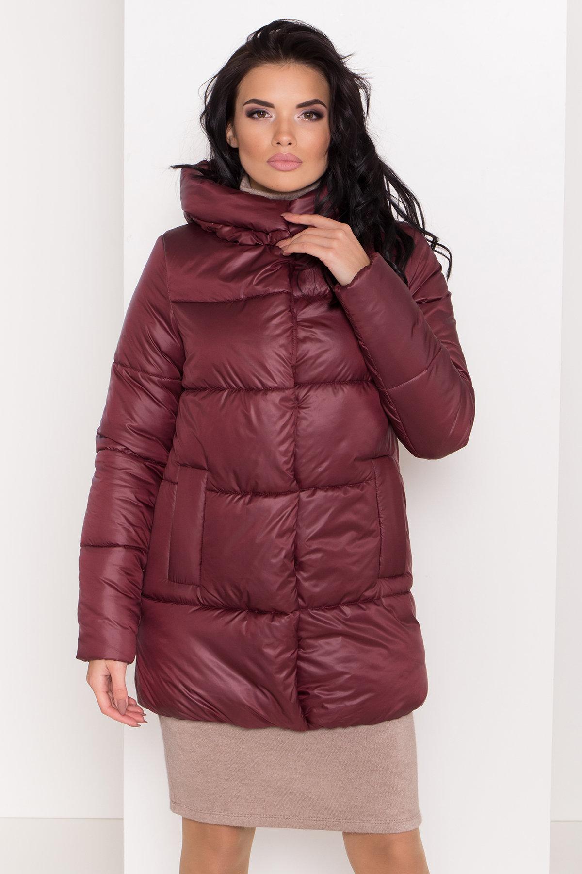 Женская зимняя куртка пуховик Техас Лаке 8238 АРТ. 44286 Цвет: Бордо - фото 4, интернет магазин tm-modus.ru