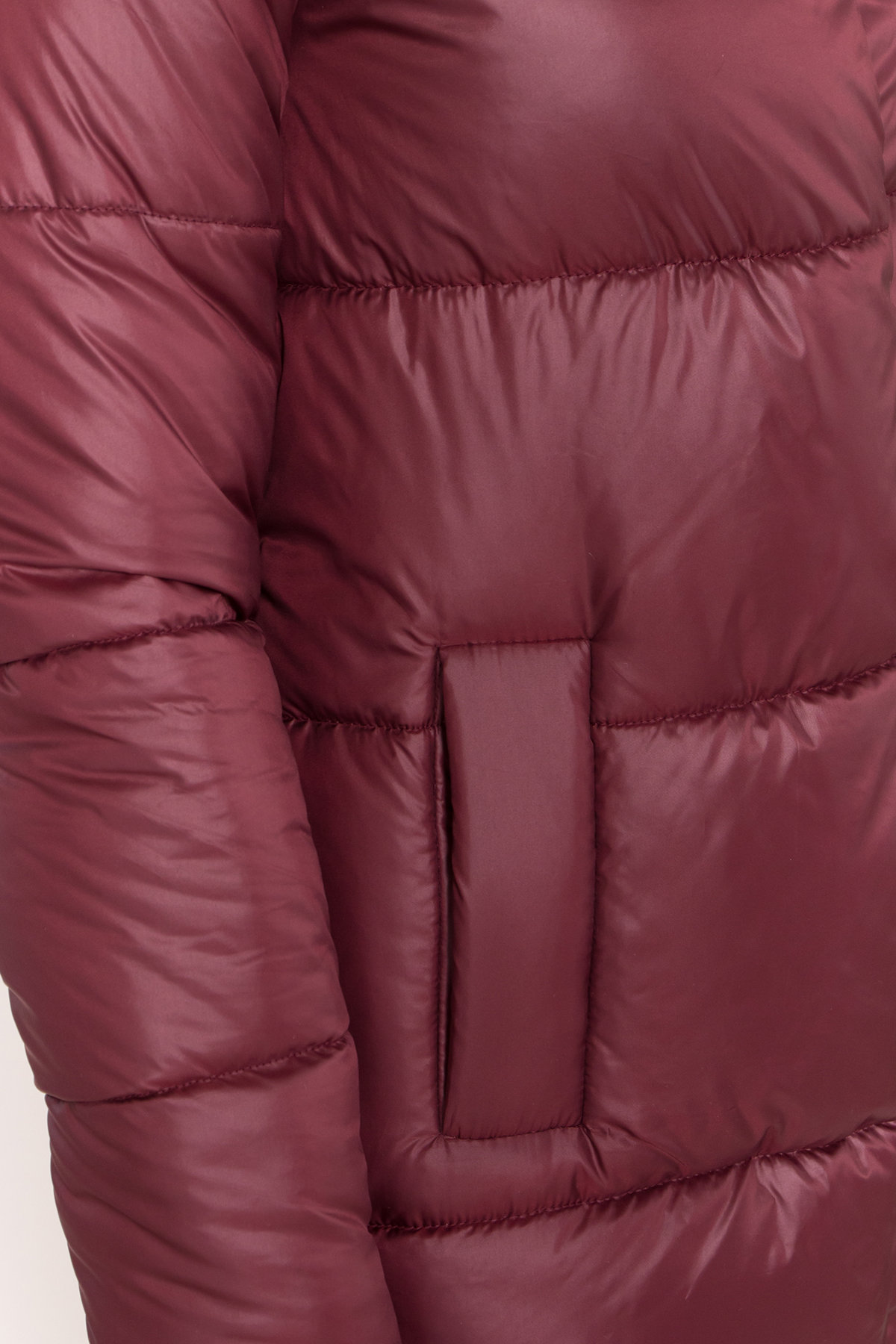 Женская зимняя куртка пуховик Техас Лаке 8238 АРТ. 44286 Цвет: Бордо - фото 5, интернет магазин tm-modus.ru