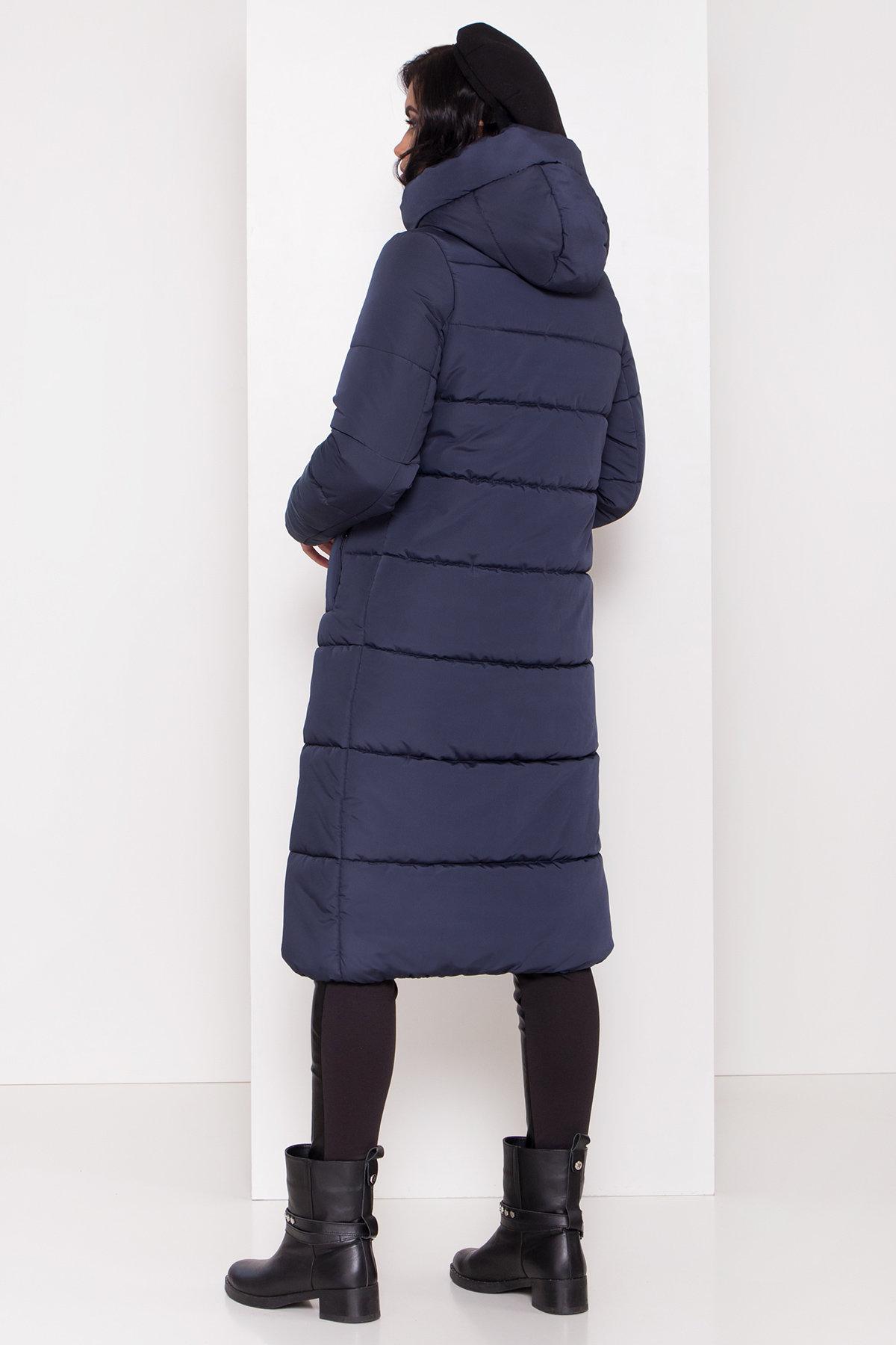 Длинный пуховик зимний Сигма Канада 8230 Цвет: т. синий