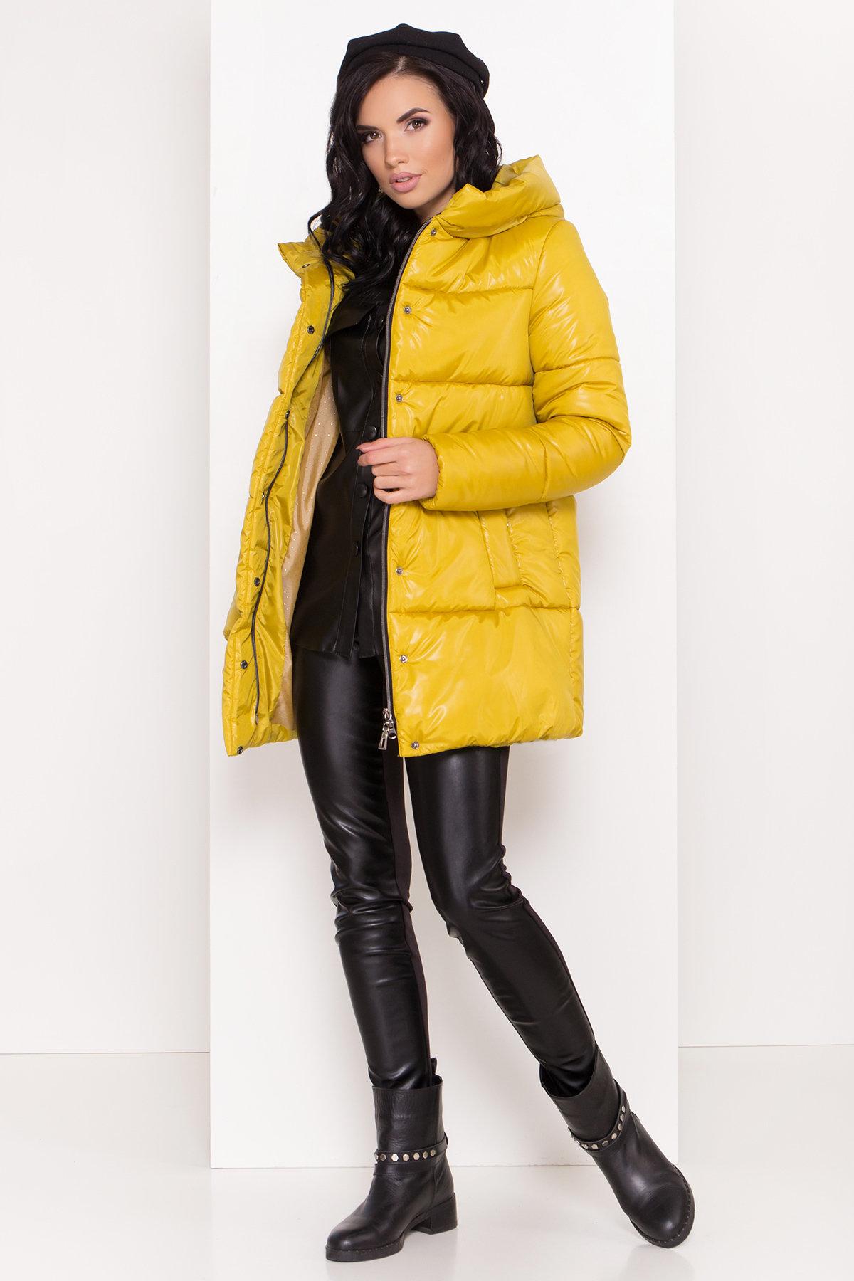 Женская зимняя куртка пуховик Техас Лаке 8238 АРТ. 44284 Цвет: Горчица - фото 1, интернет магазин tm-modus.ru