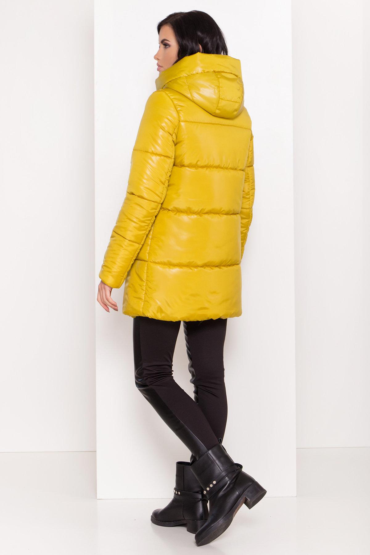 Женская зимняя куртка пуховик Техас Лаке 8238 АРТ. 44284 Цвет: Горчица - фото 3, интернет магазин tm-modus.ru