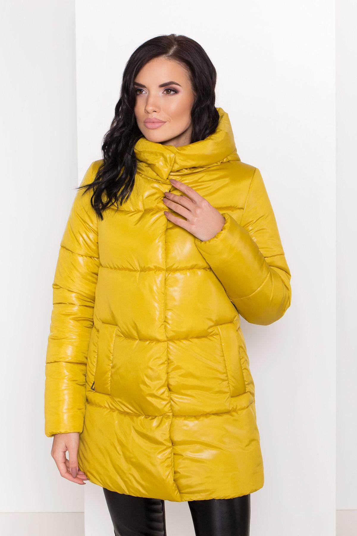 Женская зимняя куртка пуховик Техас Лаке 8238 АРТ. 44284 Цвет: Горчица - фото 4, интернет магазин tm-modus.ru