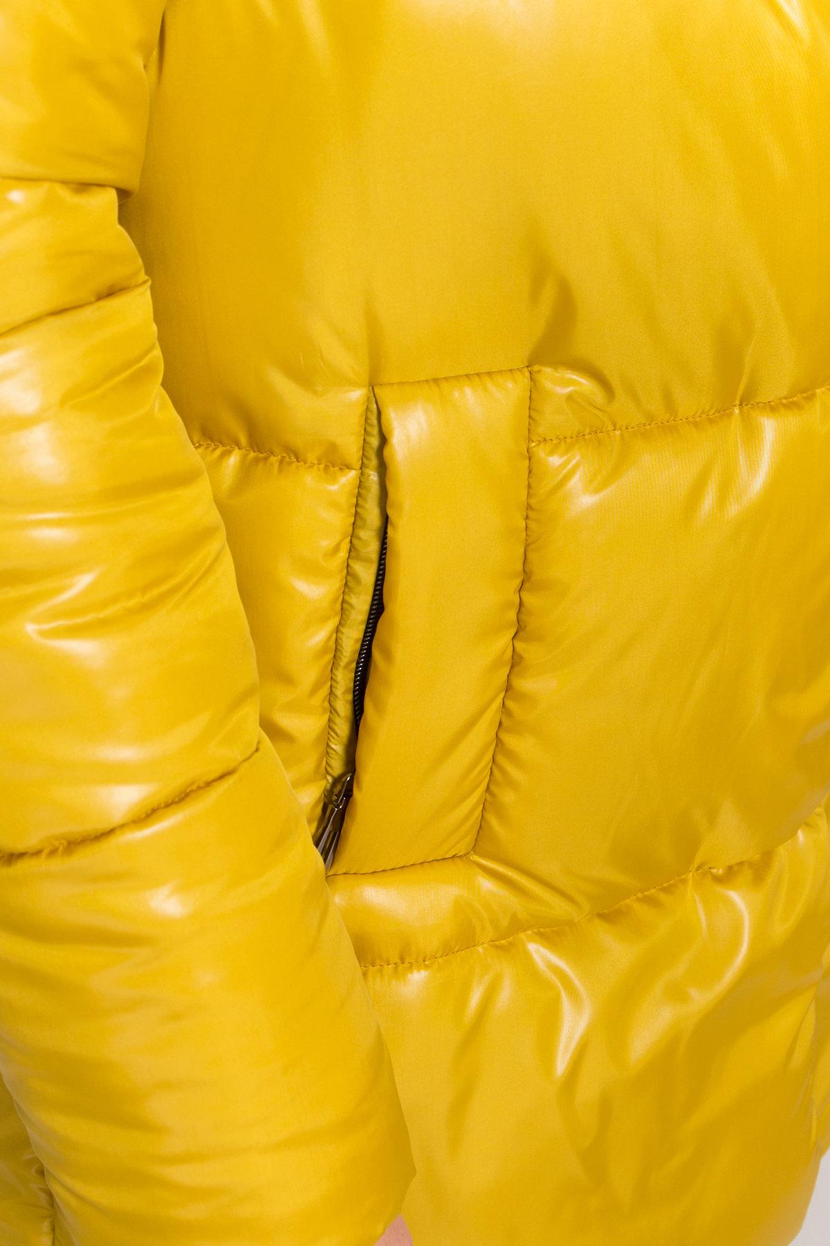 Женская зимняя куртка пуховик Техас Лаке 8238 АРТ. 44284 Цвет: Горчица - фото 5, интернет магазин tm-modus.ru