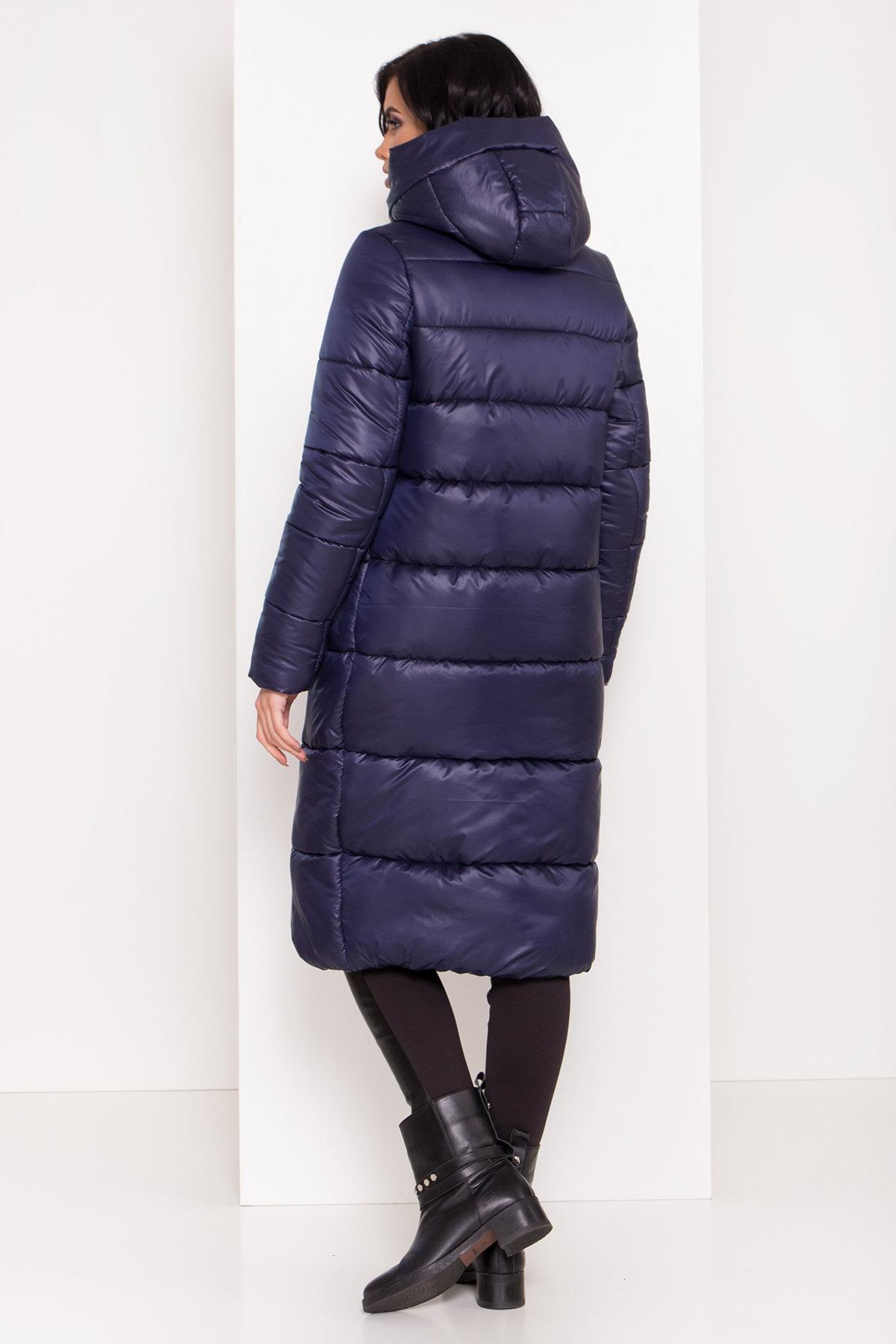 Длинная зимняя куртка-пуховик Сигма 8040 АРТ. 43989 Цвет: Т.синий - фото 2, интернет магазин tm-modus.ru