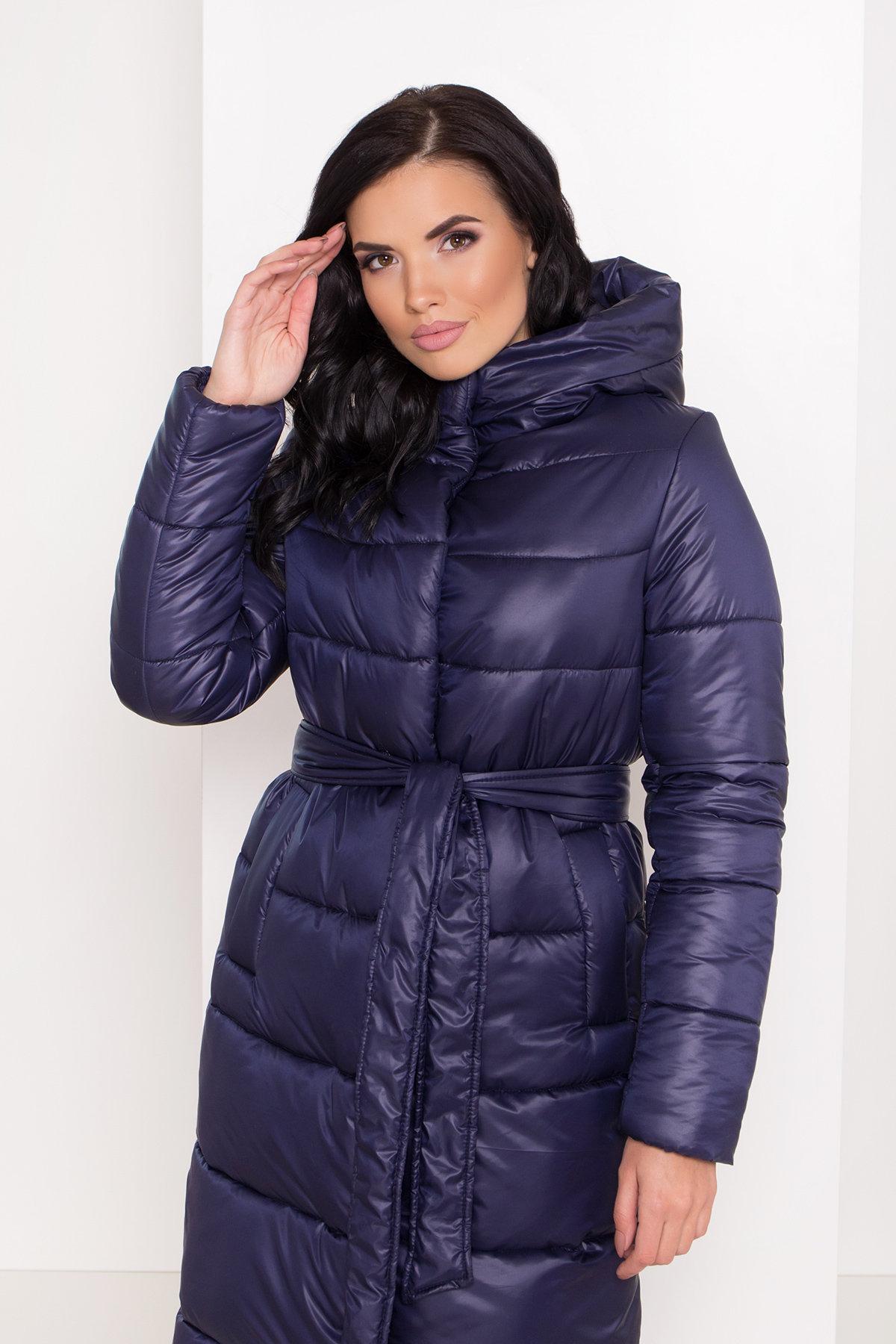 Длинная зимняя куртка-пуховик Сигма 8040 АРТ. 43989 Цвет: Т.синий - фото 4, интернет магазин tm-modus.ru