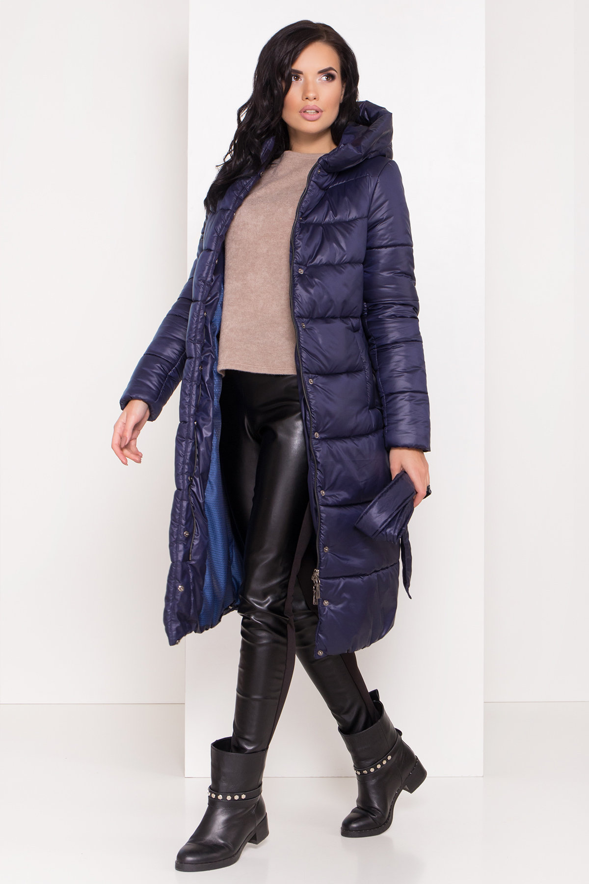 Длинная зимняя куртка-пуховик Сигма 8040 АРТ. 43989 Цвет: Т.синий - фото 6, интернет магазин tm-modus.ru