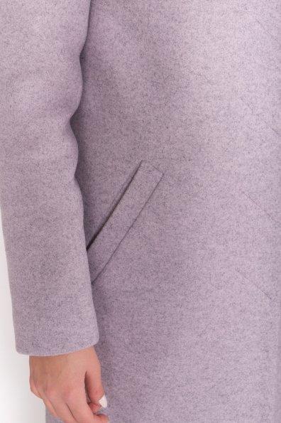 Зимнее пальто с воротником стойка Фортуна лайт 5804 Цвет: Серо-розовый 46
