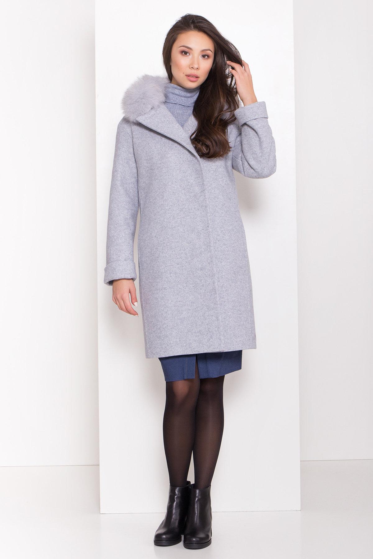 Полуприталенное зимнее пальто серых тонов Лизи 8170 АРТ. 44182 Цвет: Серый Светлый 33 - фото 1, интернет магазин tm-modus.ru