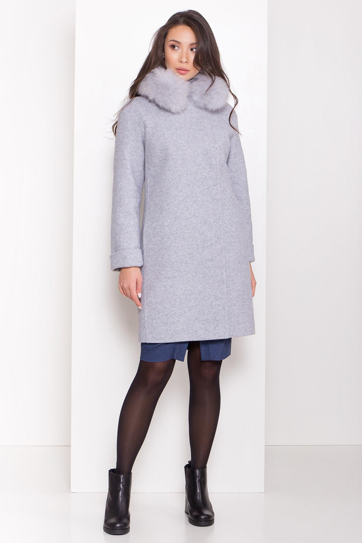 Полуприталенное зимнее пальто серых тонов Лизи 8170 АРТ. 44182 Цвет: Серый Светлый 33 - фото 2, интернет магазин tm-modus.ru