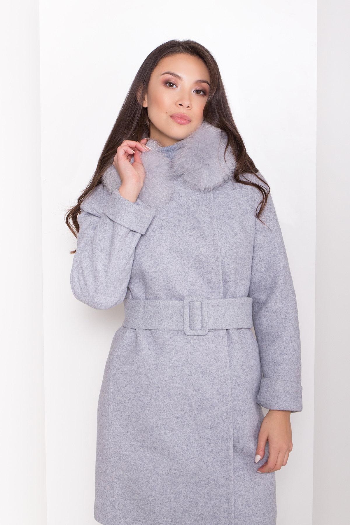 Полуприталенное зимнее пальто серых тонов Лизи 8170 АРТ. 44182 Цвет: Серый Светлый 33 - фото 4, интернет магазин tm-modus.ru