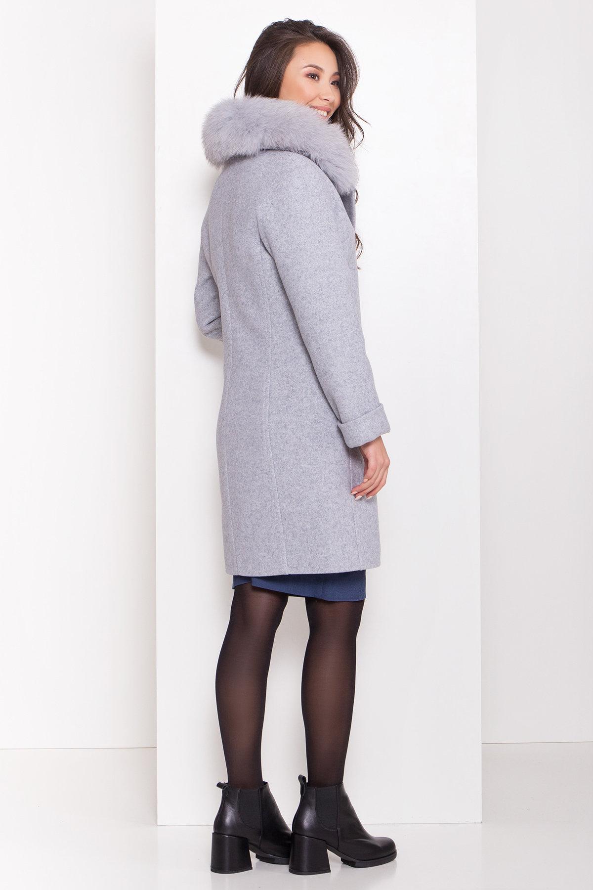 Полуприталенное зимнее пальто серых тонов Лизи 8170 АРТ. 44182 Цвет: Серый Светлый 33 - фото 5, интернет магазин tm-modus.ru