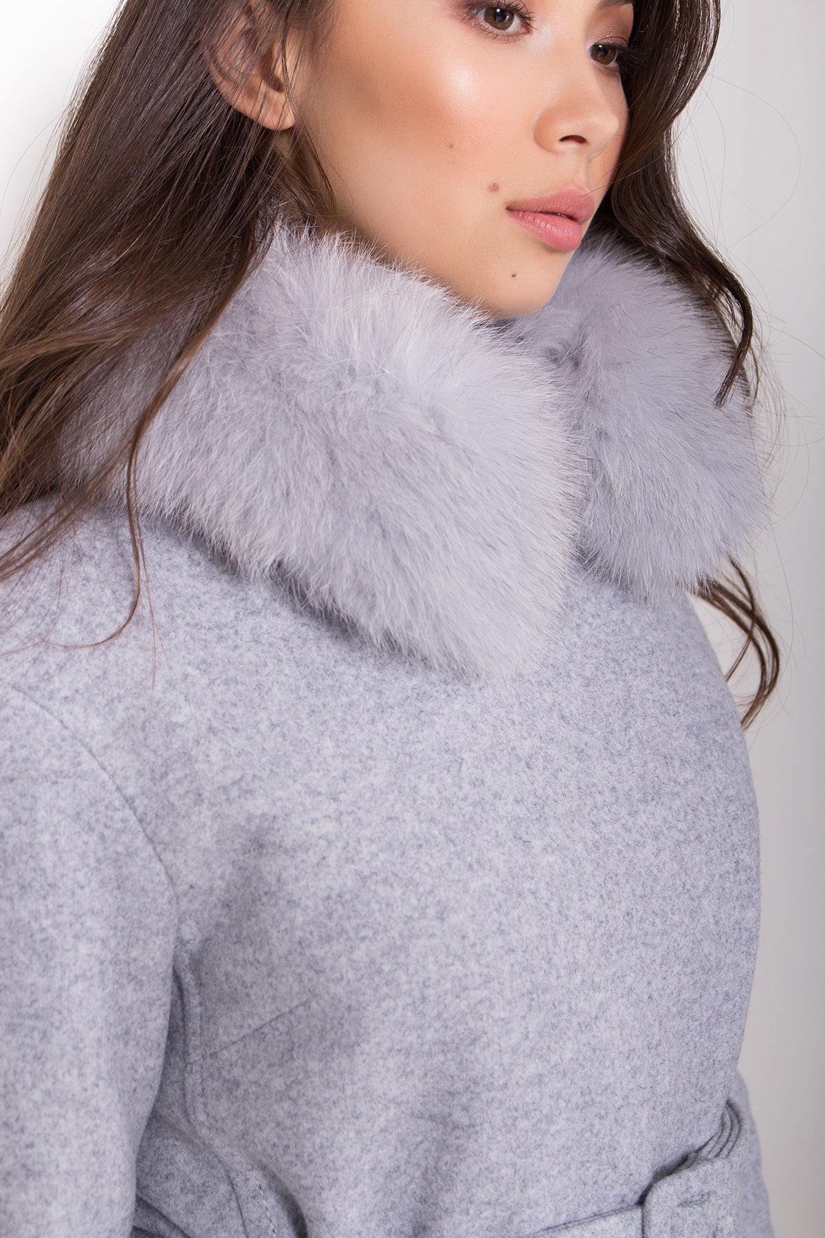 Полуприталенное зимнее пальто серых тонов Лизи 8170 АРТ. 44182 Цвет: Серый Светлый 33 - фото 6, интернет магазин tm-modus.ru