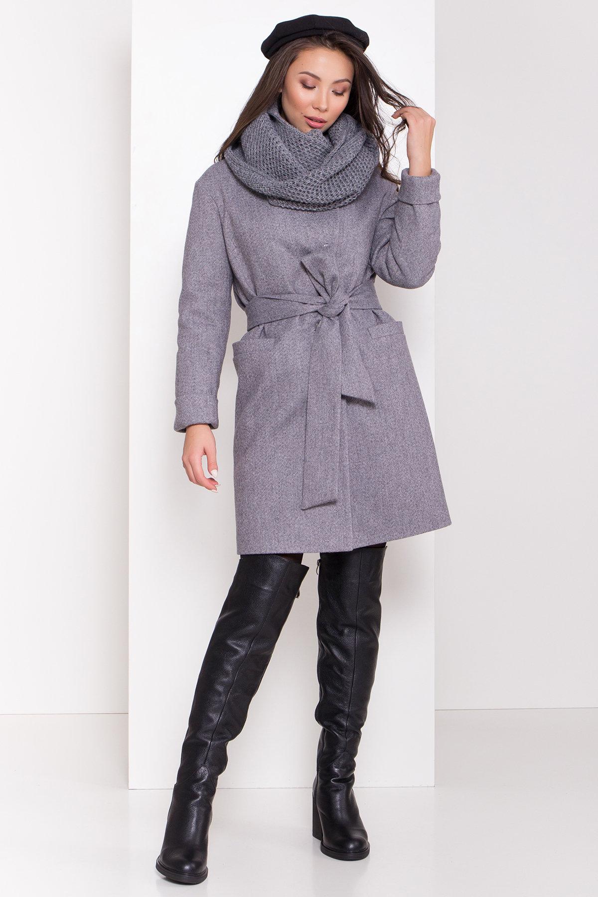 Купить оптом зимнее пальто от Modus Зимнее утепленное пальто диагональ Вива 8243