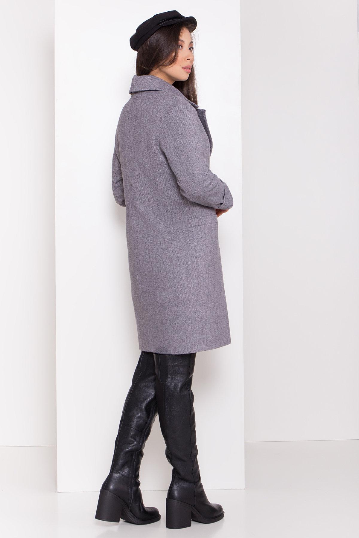 Зимнее утепленное пальто диагональ Вива 8243 АРТ. 44279 Цвет: Серый - фото 4, интернет магазин tm-modus.ru